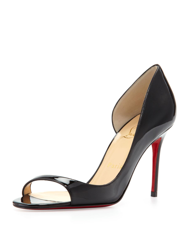 Red Slingback Peep Toe Shoes