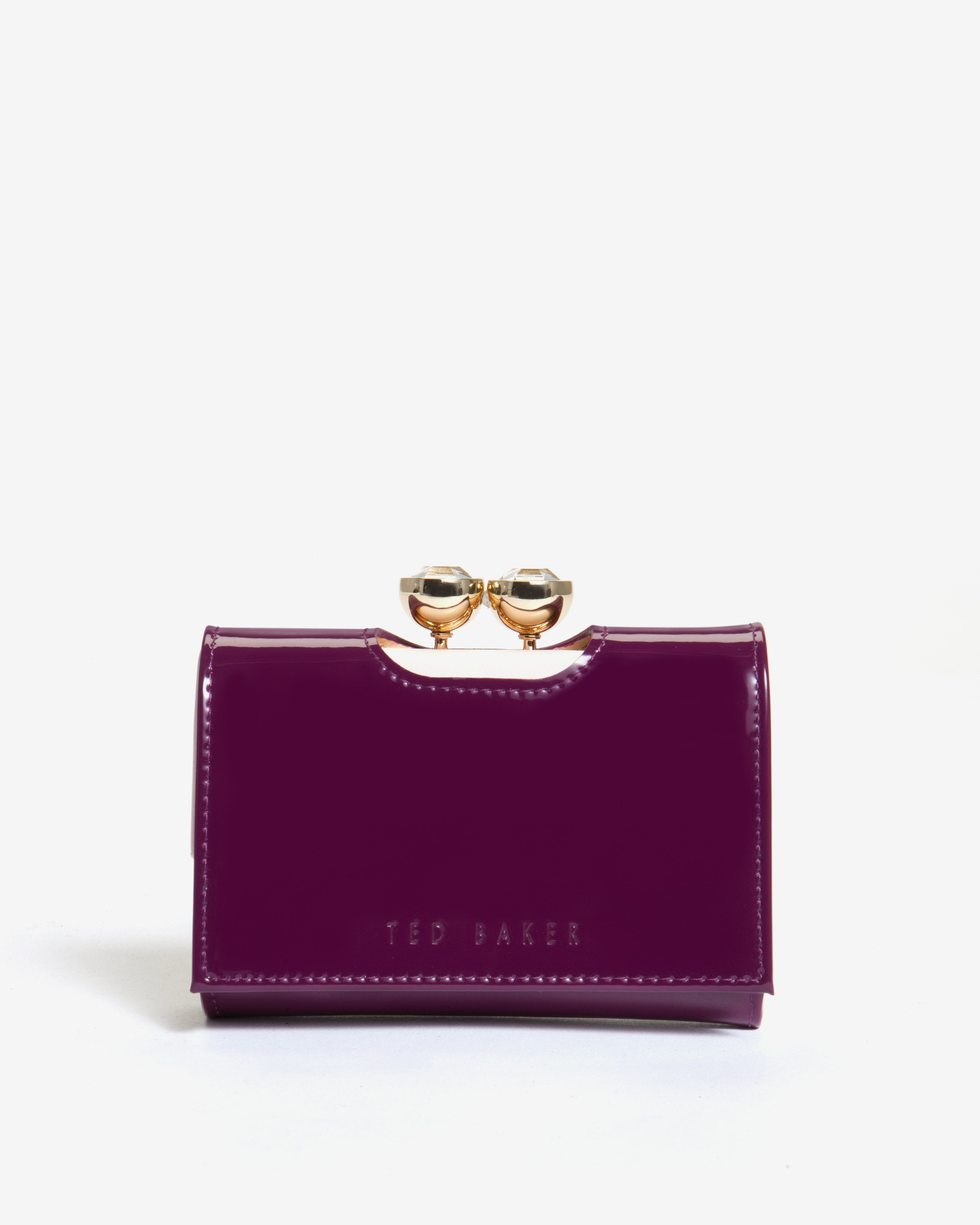 720ad571436 Ted Baker Leather Crystal Bobble Small Purse in Purple - Lyst