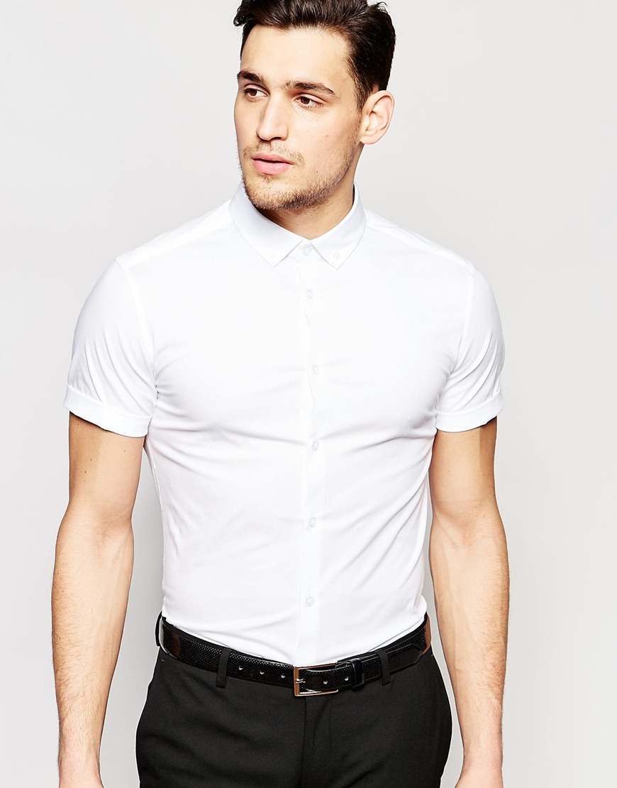 Discover skinny shirts for men on ASOS. Shop for plain, printed or denim skinny shirts, with short or long sleeve & from brands like Lacoste, Selected or ASOS.
