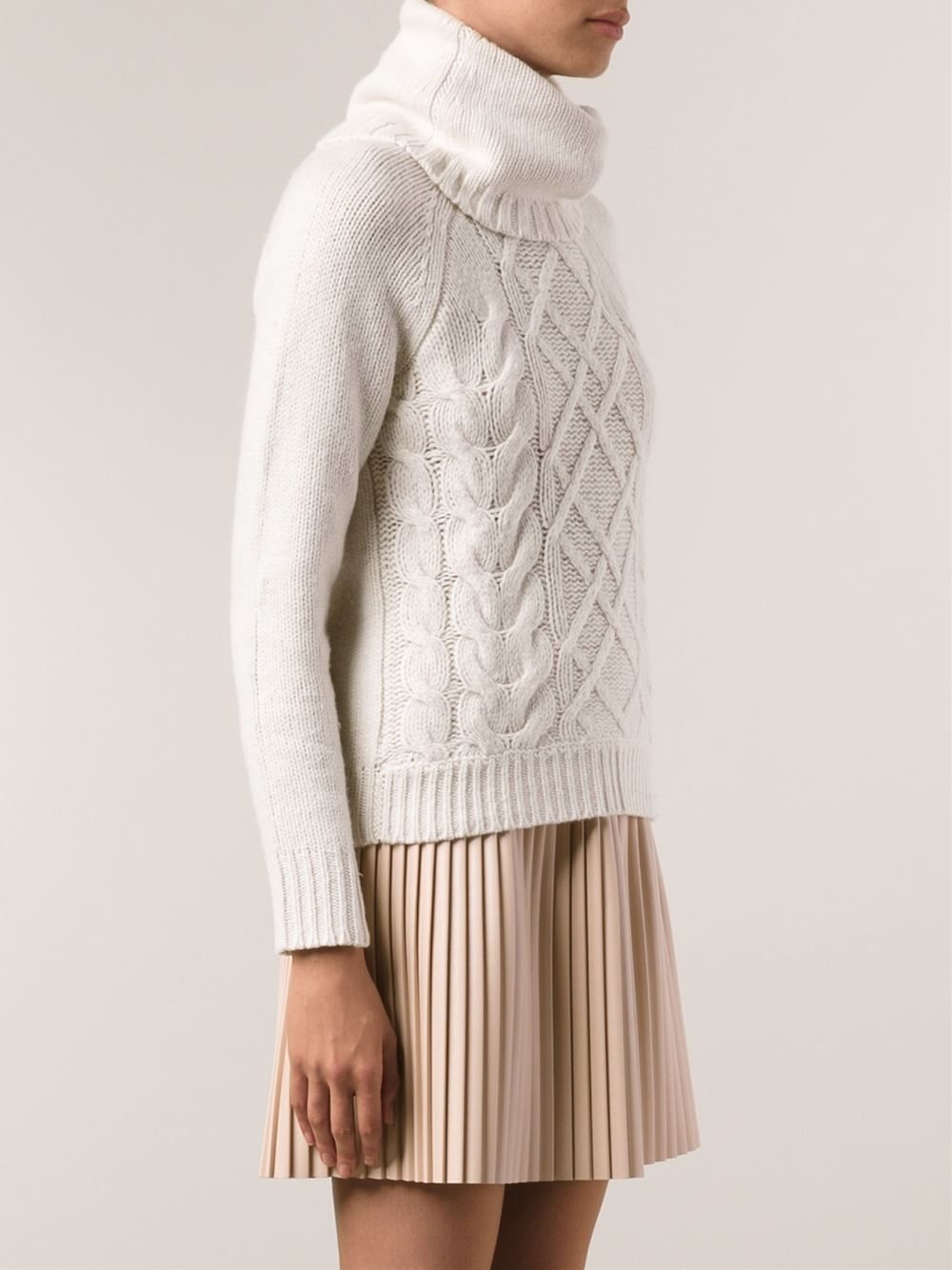 Lyst Autumn Cashmere Cable Sweater In White