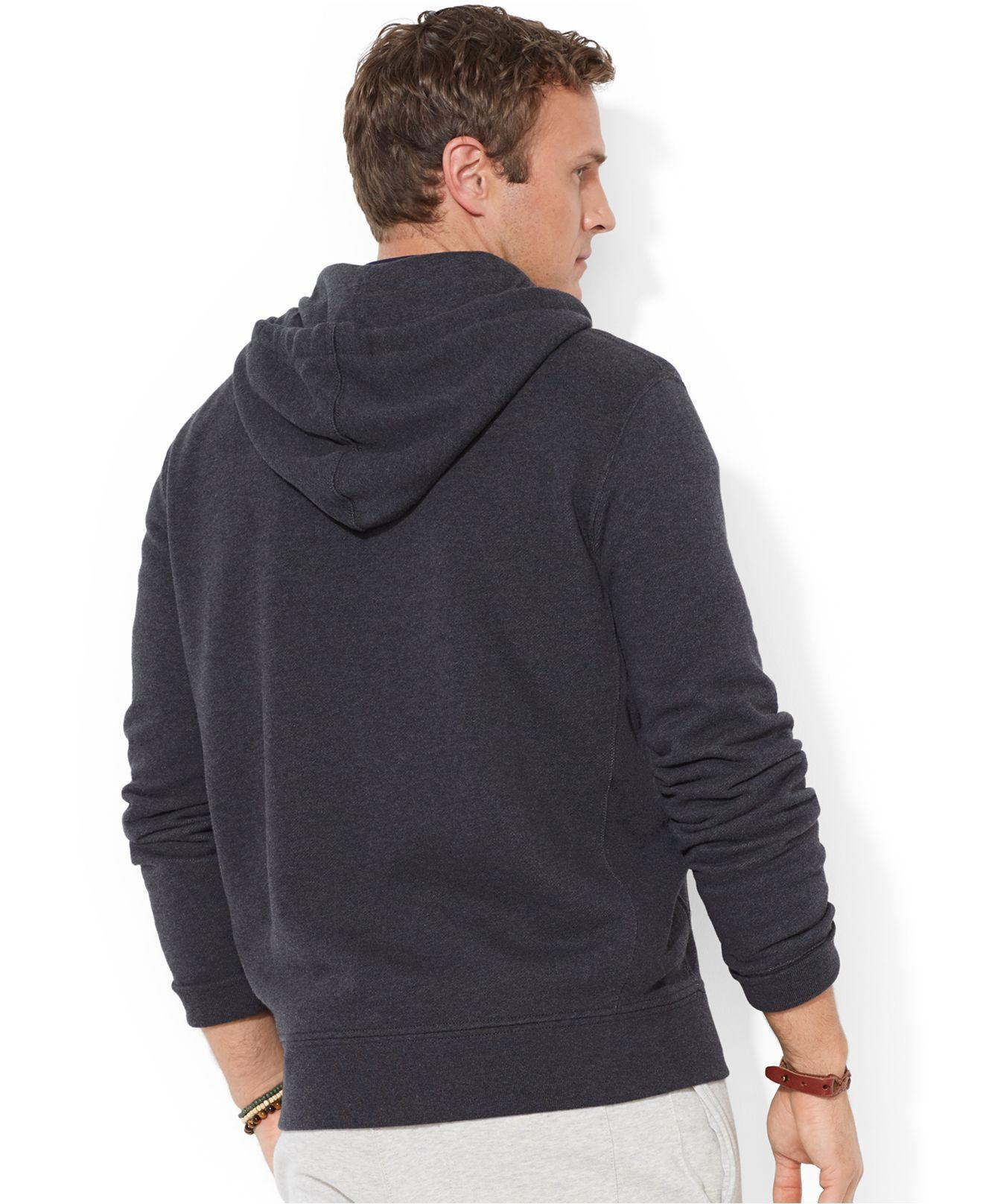 Polo Ralph Lauren Full-Zip French-Rib Grey Hoodie