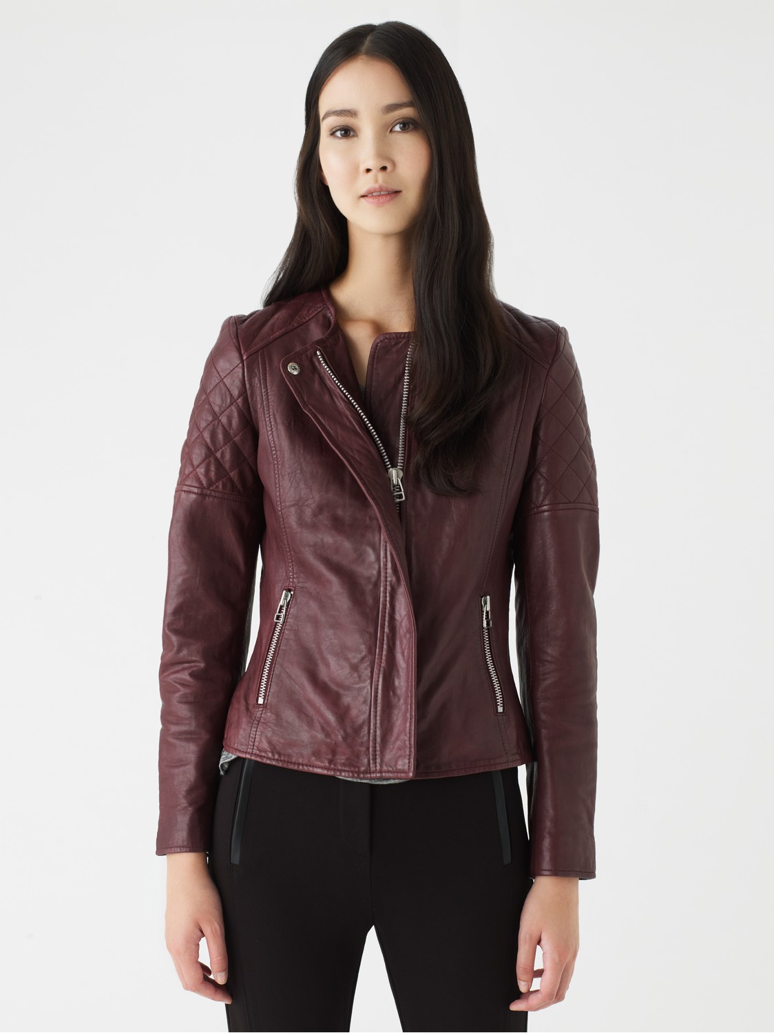 Leather jacket jigsaw - Gallery Women S Quilted Jackets Women S Shearling Leather