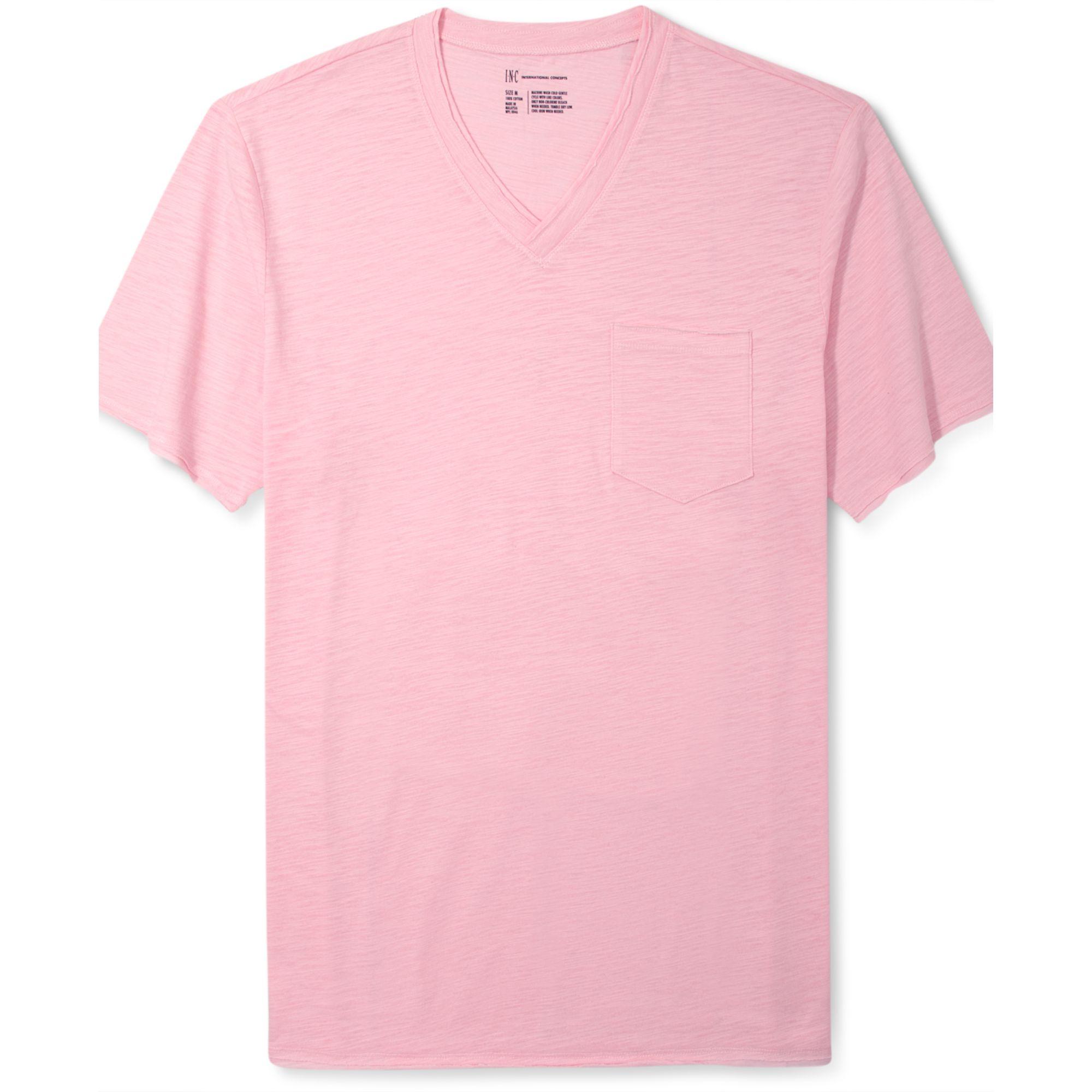 Lyst inc international concepts slade pocket v neck t for Men s v neck pocket tee shirts