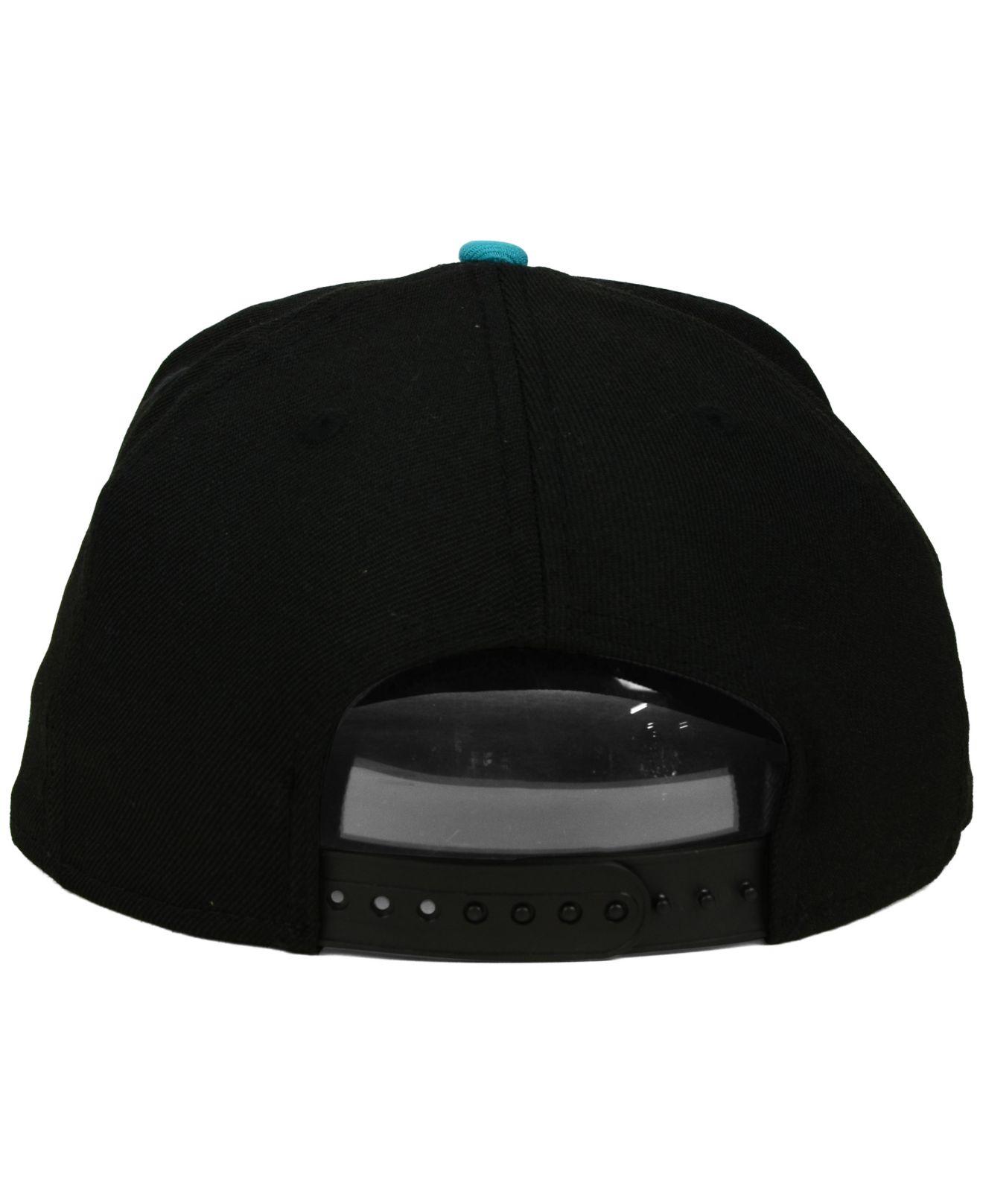 c781faa6 ... good lyst ktz florida marlins coop flip 9fifty snapback cap in black  6a562 2c31a ...