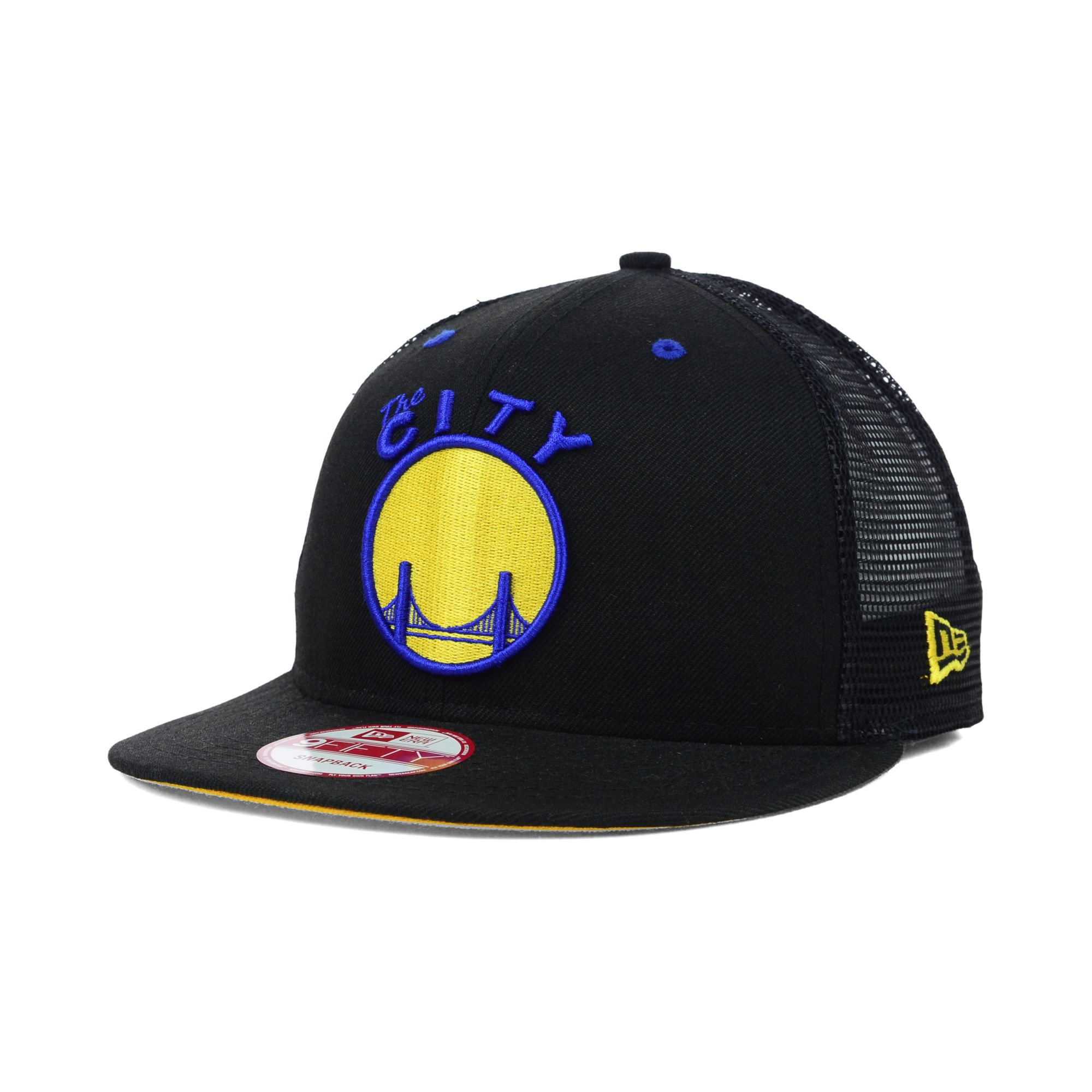 brand new 1a02c 1d5f8 ... snapback cap for men 8d040 248b6  italy lyst ktz golden state warriors  hardwood classics trucker 9fifty c66dc fc553