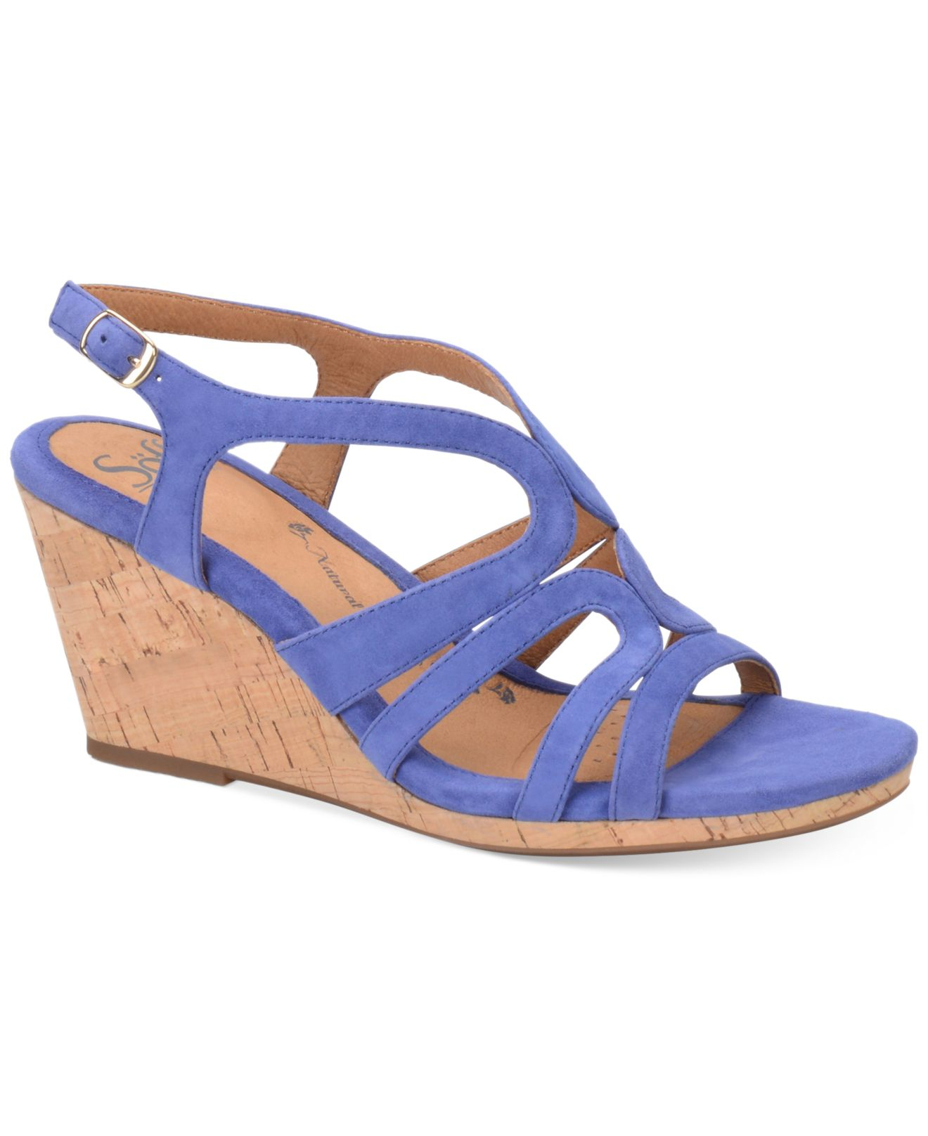 s 246 fft corinth platform wedge sandals in blue lyst