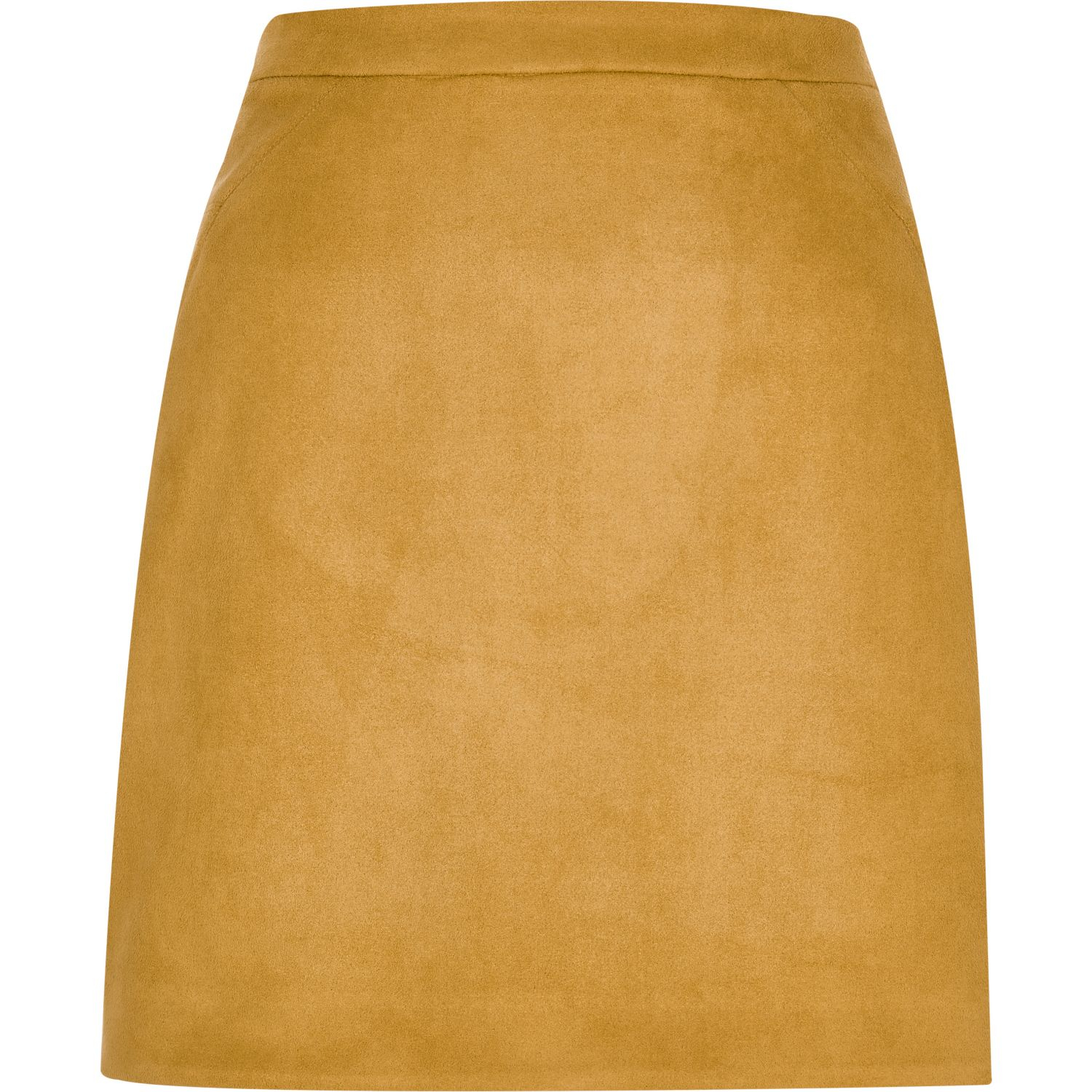 461c631a68b Lyst - River Island Mustard Yellow Faux Suede Mini Skirt in Yellow