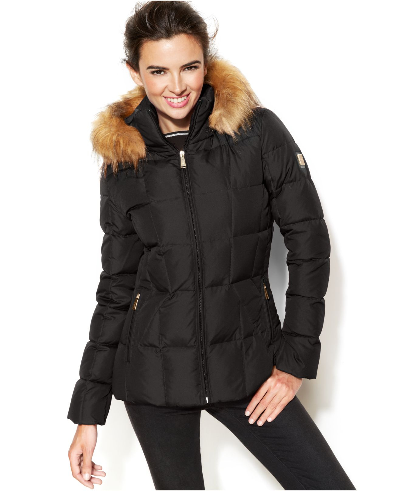 Lyst Calvin Klein Pe E Faux Fur Trim Hooded Puffer Parka Low Priced E0294