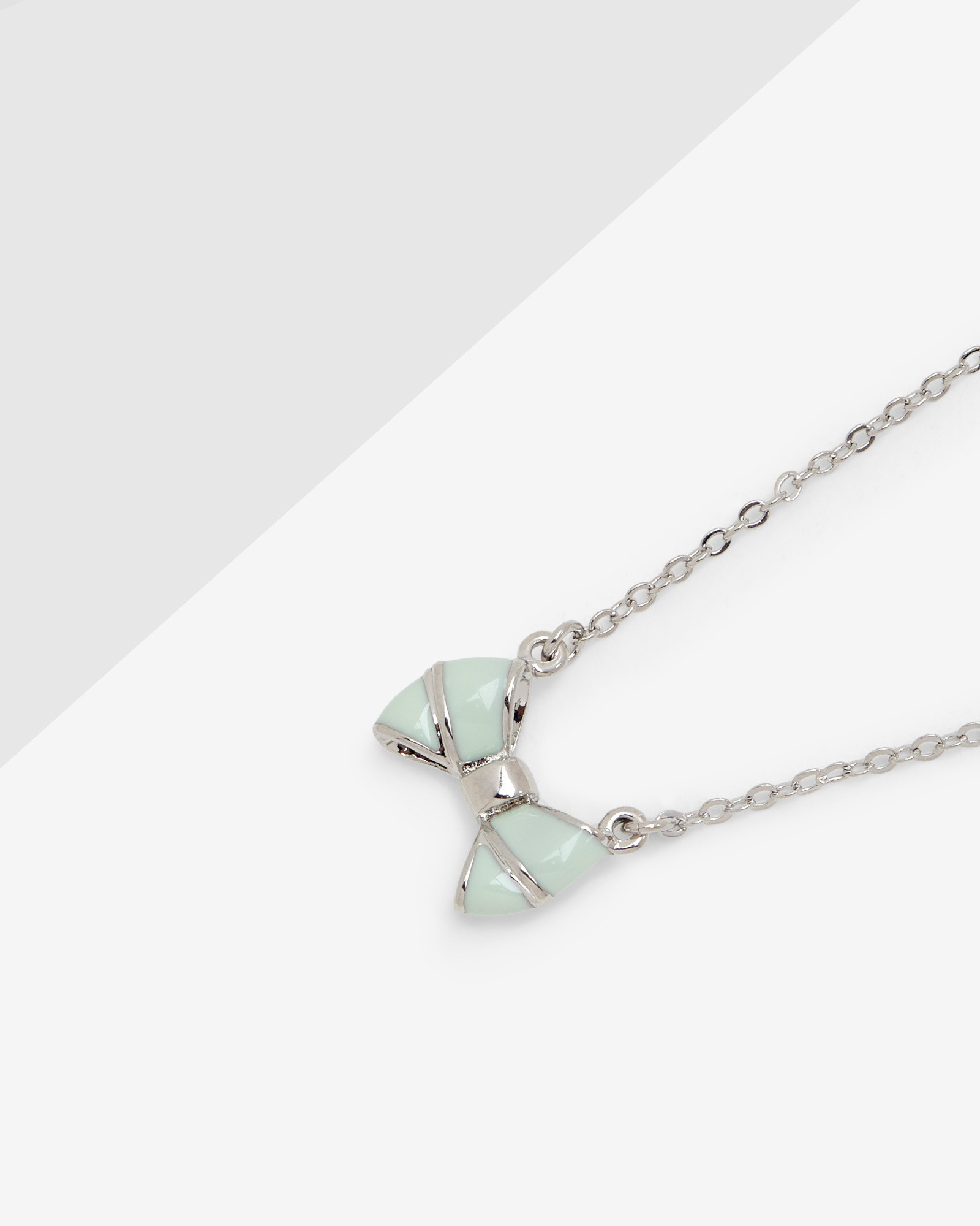 Bow Sterling Silver Pendant Necklace Ted Baker h5bGCXc