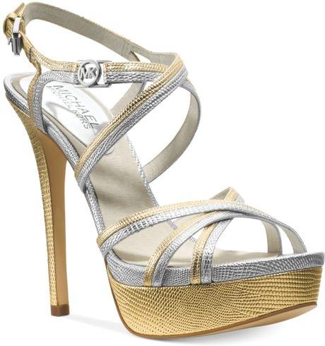Michael Kors Gold Platform Sandals Platform Sandals in Gold