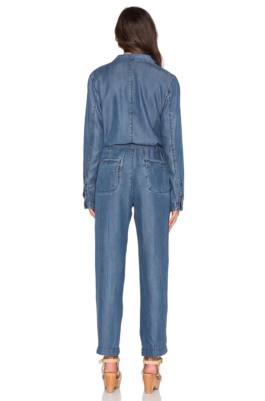 bbf14fadeb Lyst - Free People Lou Denim Jumpsuit in Blue