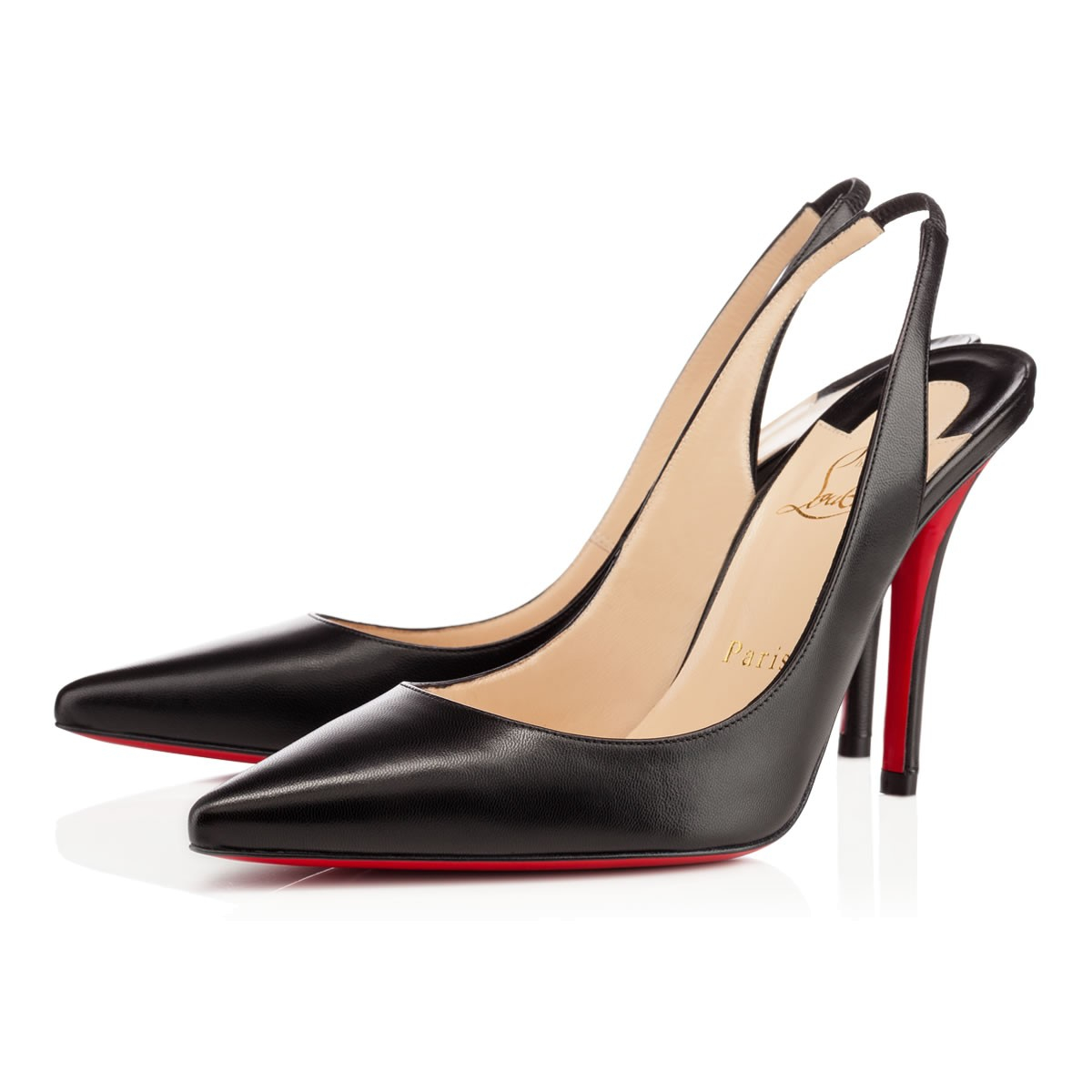 Lyst - Christian Louboutin Apostrophy Sling in Black b4a1694c9