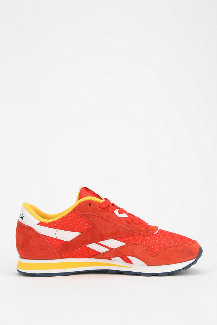 a883362f281 Lyst - Urban Outfitters Reebok R13 Suede Running Sneaker in Yellow