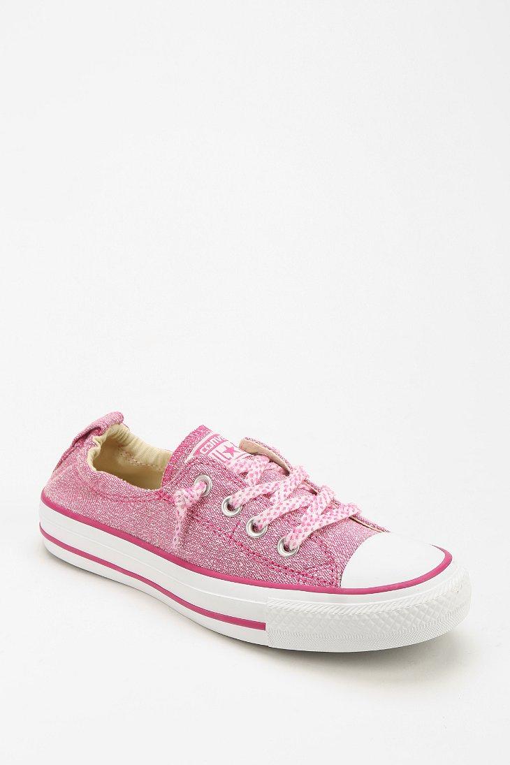 Converse Shoreline Linen Womens Lowtop Sneaker in Pink