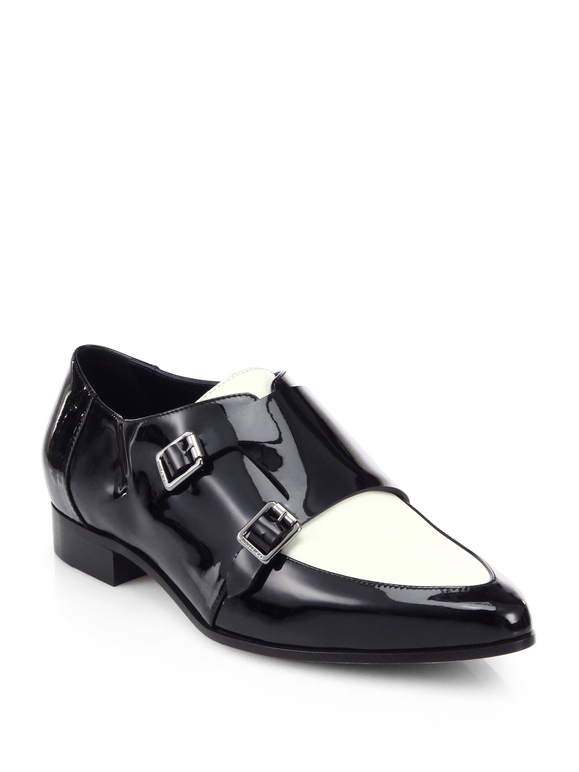 jimmy choo mardi spectator shoes in black for lyst