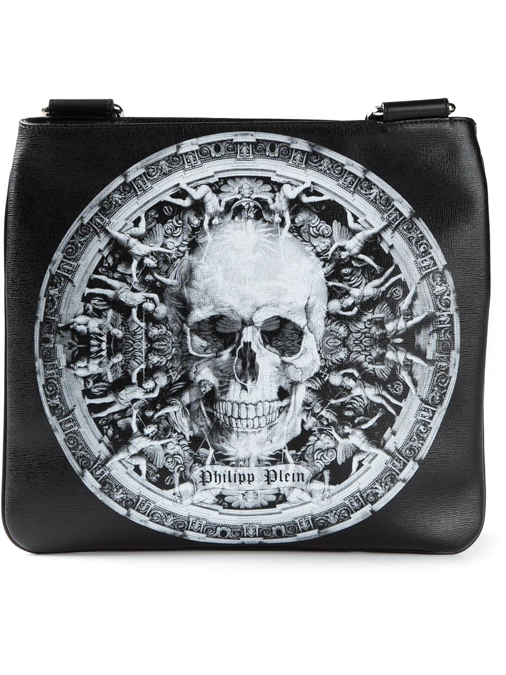 02f4d89592 Philipp Plein Skull Print Messenger Bag in Black for Men - Lyst