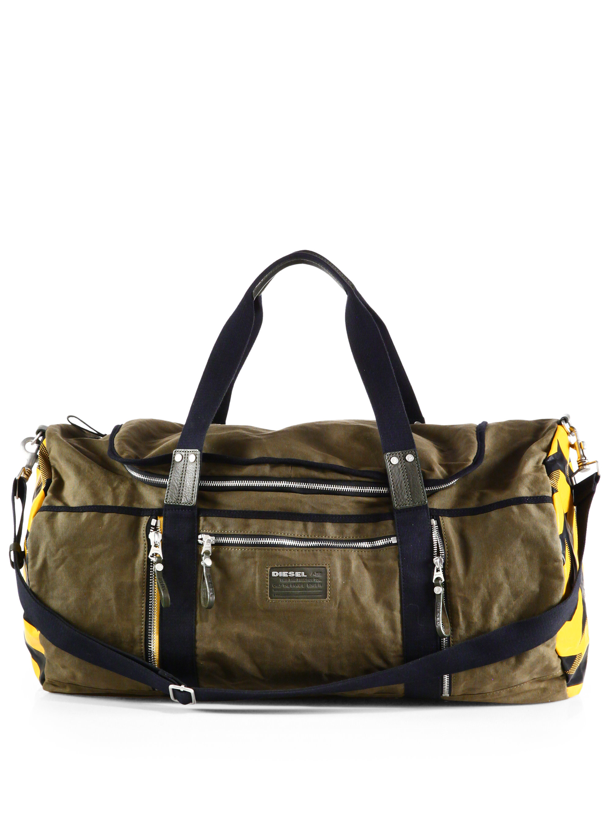 Diesel Mix Traction D Jimmy Duffel Bag In Green For Men Lyst