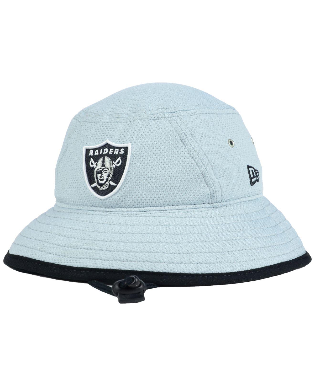 4607ac7cc71 Lyst - KTZ Oakland Raiders Training Bucket Hat in Gray for Men