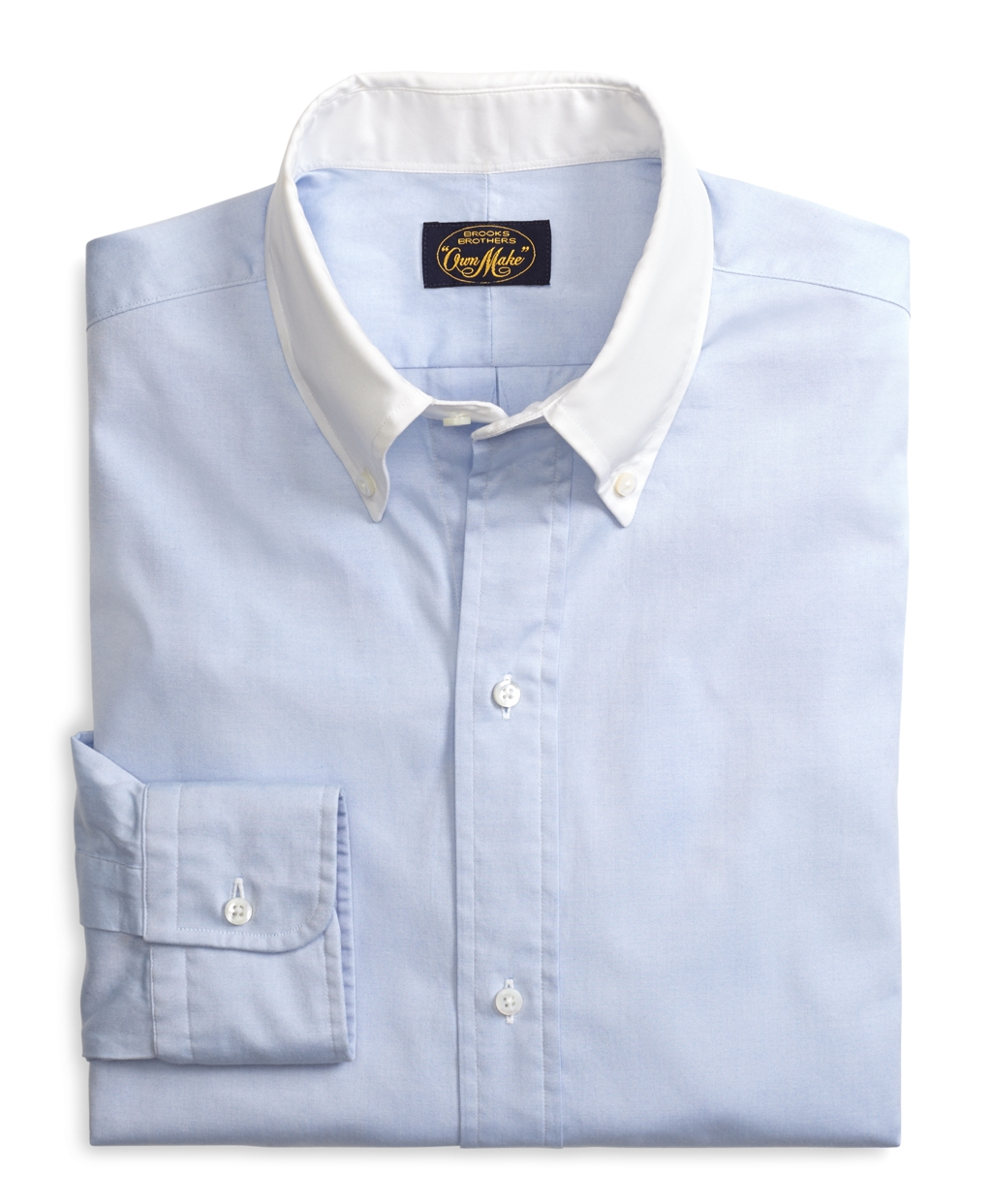 Brooks brothers own make blue pinpoint sport shirt in blue for Brooks brothers sports shirts