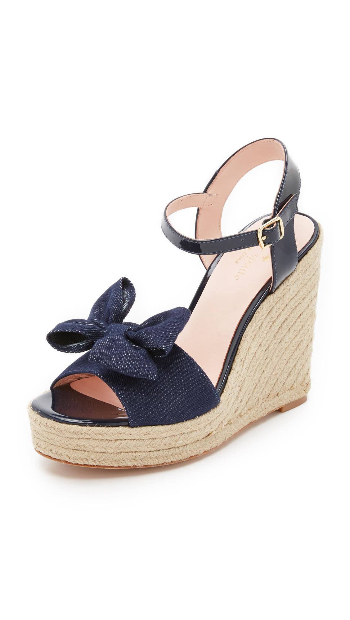 Kate Spade New York Denim Flatform Sandals clearance cheap price Ts35AN