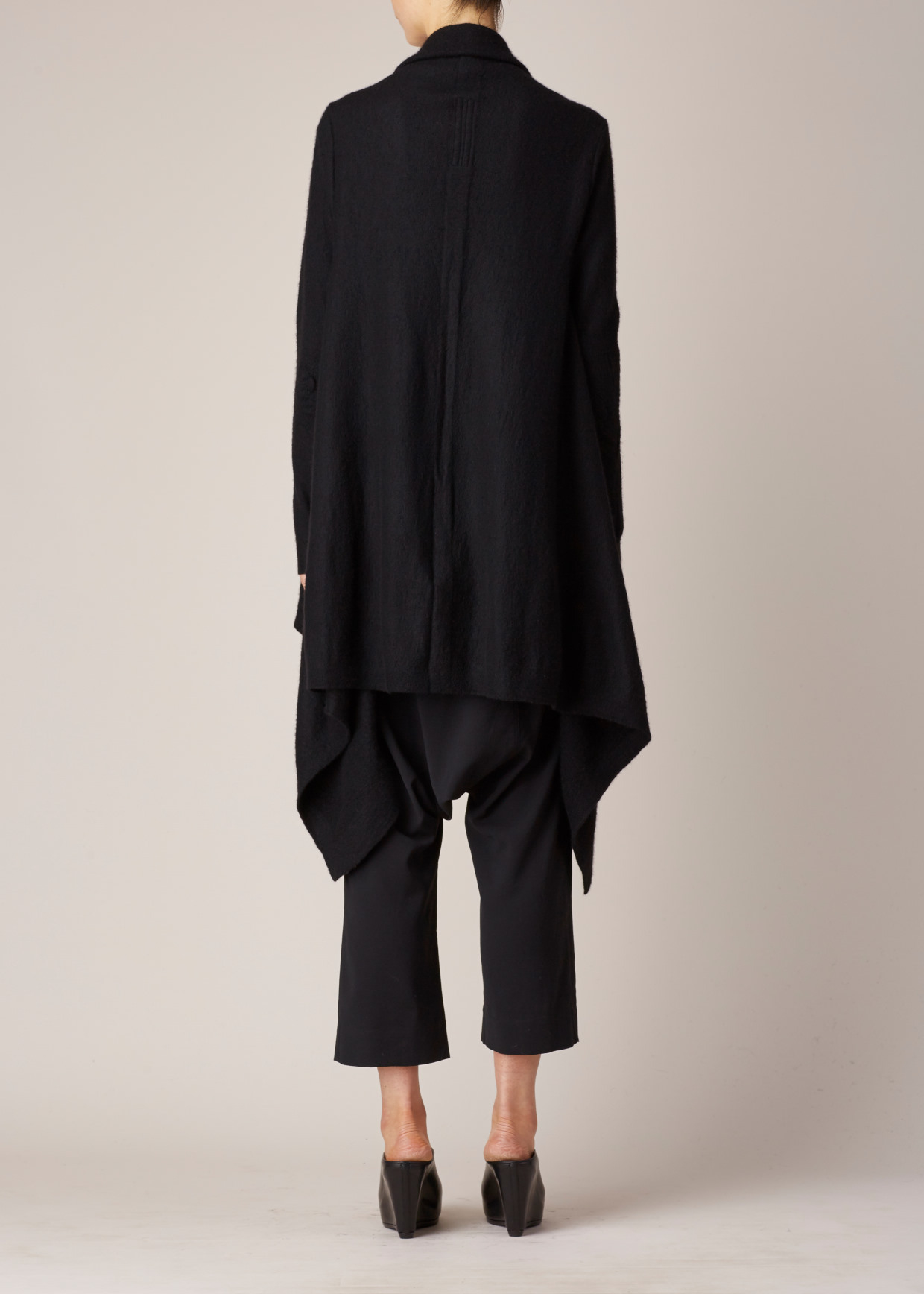 Rick owens Black Men's Cashmere Wrap Cardigan in Black | Lyst