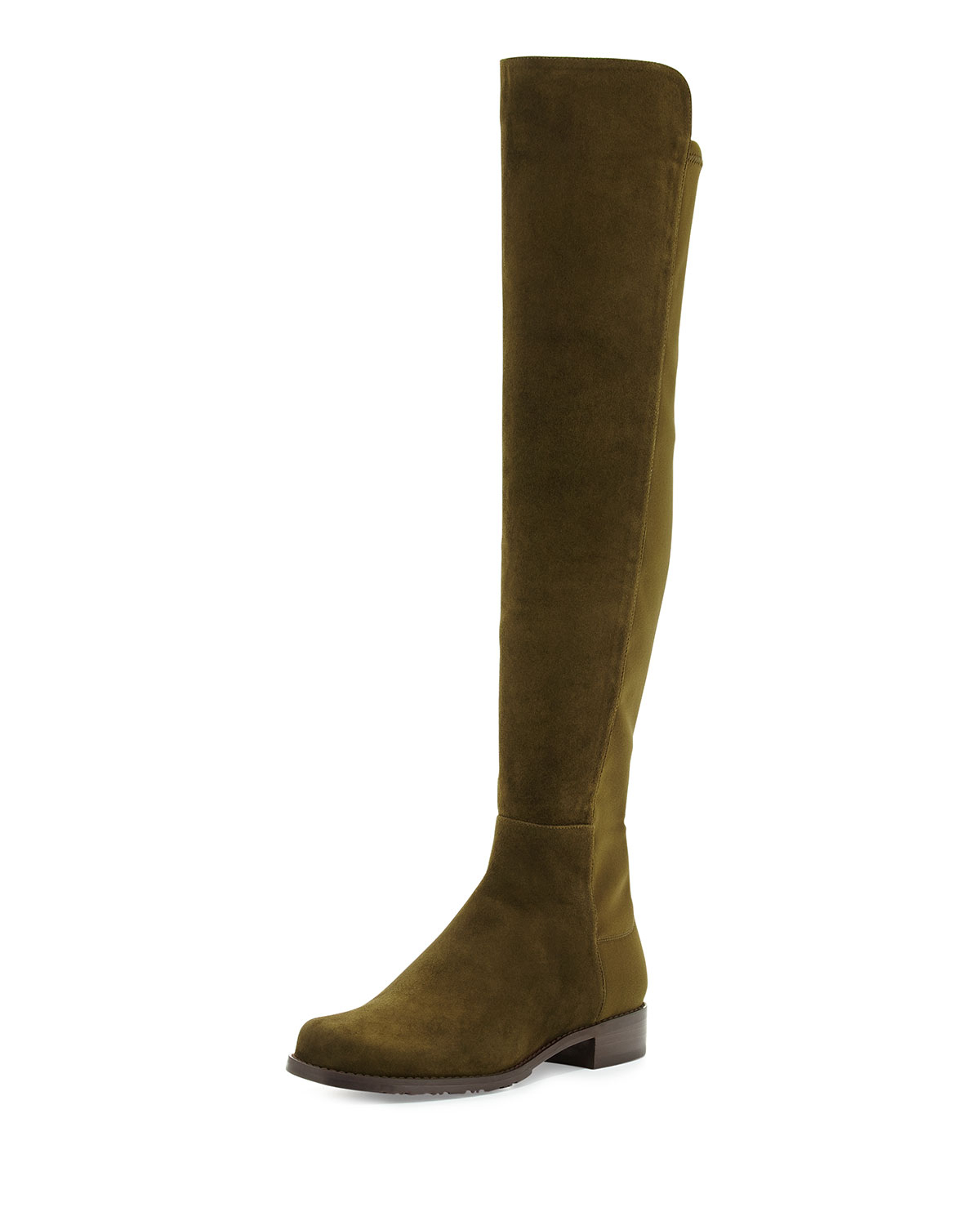 Lyst Stuart Weitzman 50 50 Suede Over The Knee Boot In Green