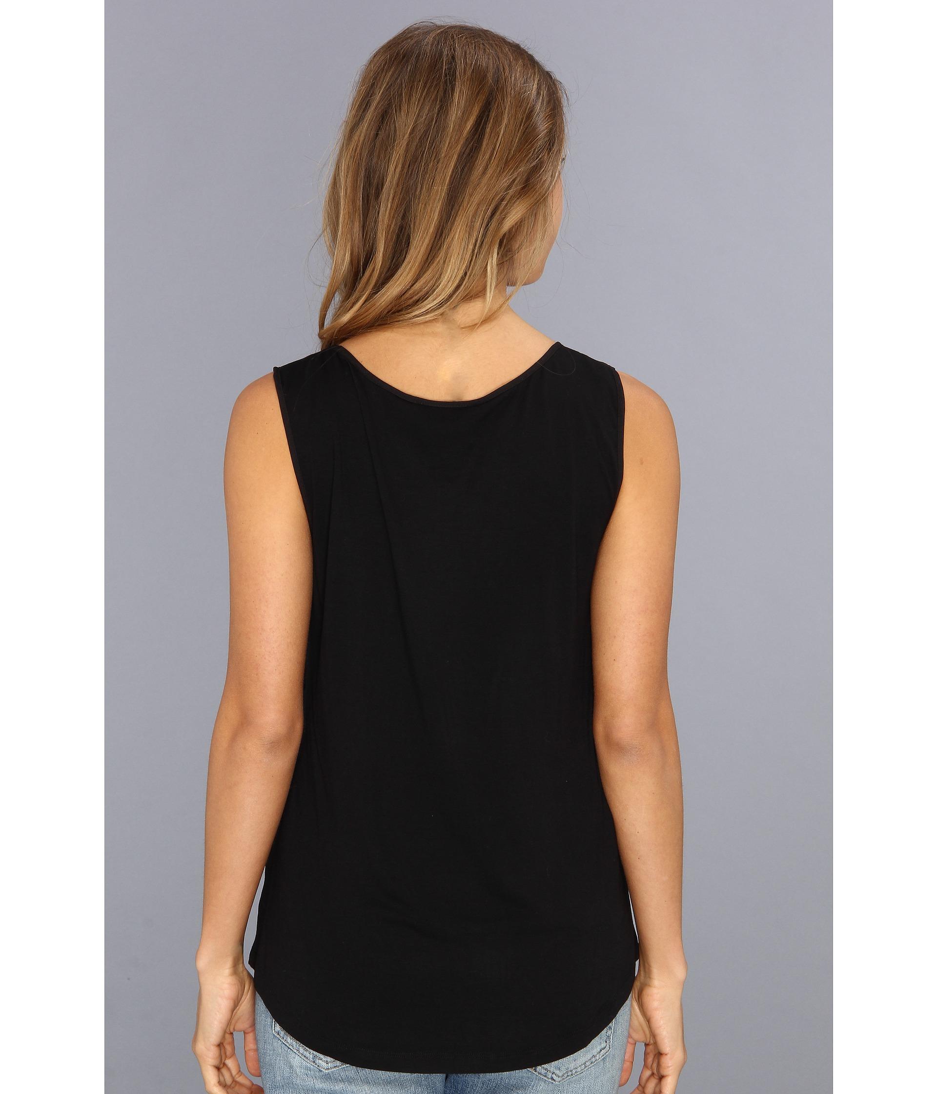 b100117dd589f1 Lyst - Calvin Klein One Pocket Sleeveless Tank Top in Black