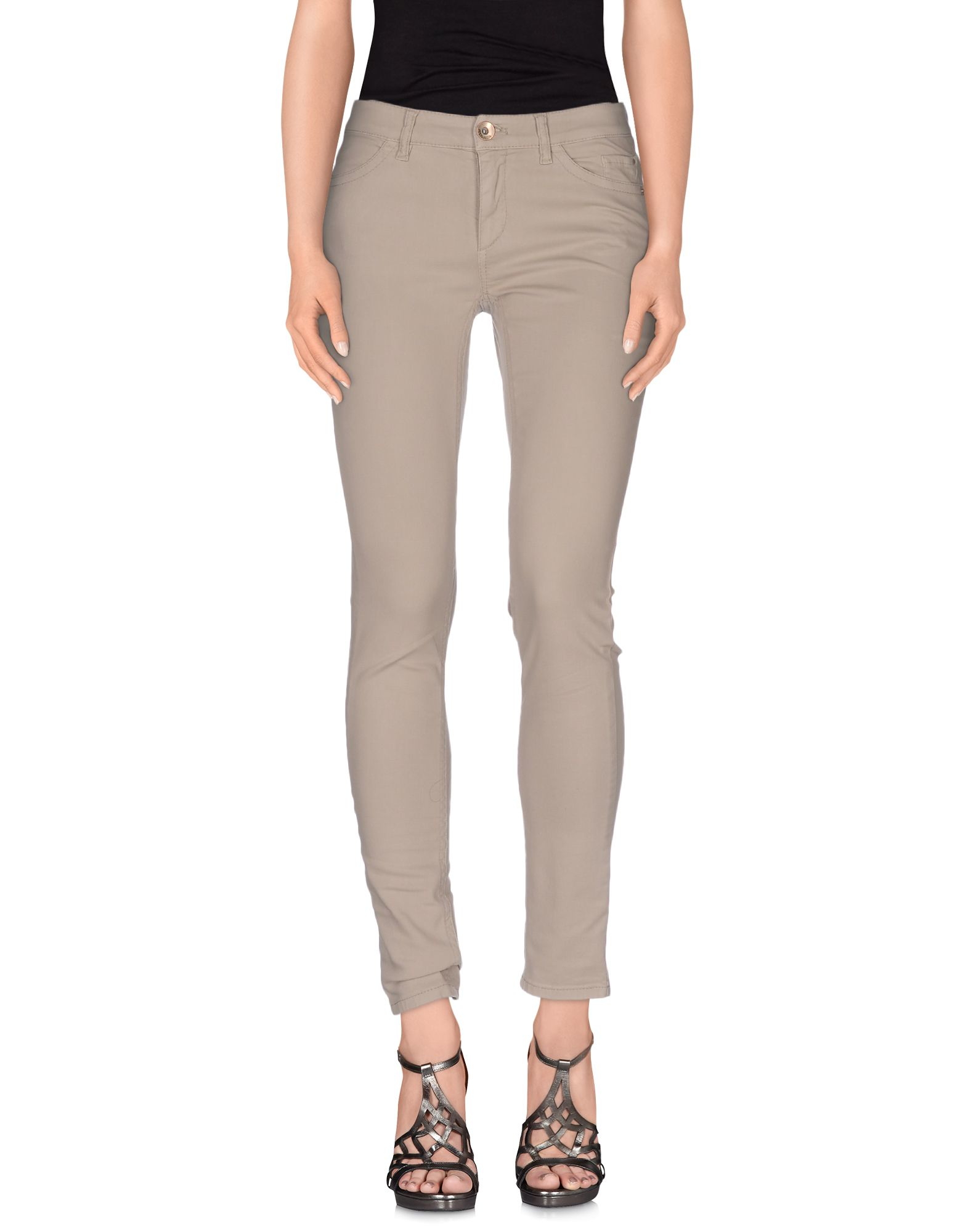 marc cain denim trousers in brown dove grey lyst. Black Bedroom Furniture Sets. Home Design Ideas