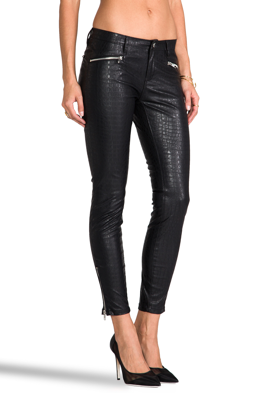 Lyst - Blank Faux Leather Pants in Black