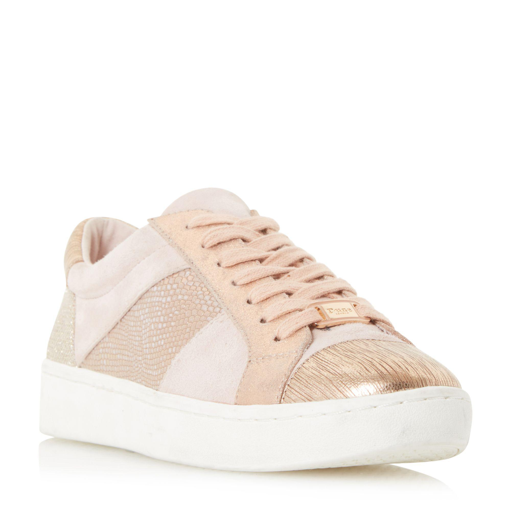 b2da61b8cb5 Dune Pink  egypt  Contrast Panel Lace Up Trainers in Pink - Lyst