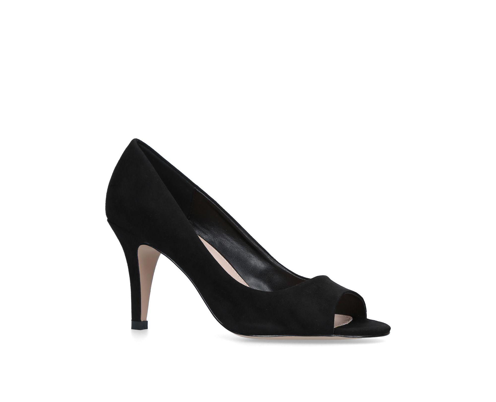 26307f14b98 Carvela Kurt Geiger  libby  Mid Heel Sandals in Black - Lyst