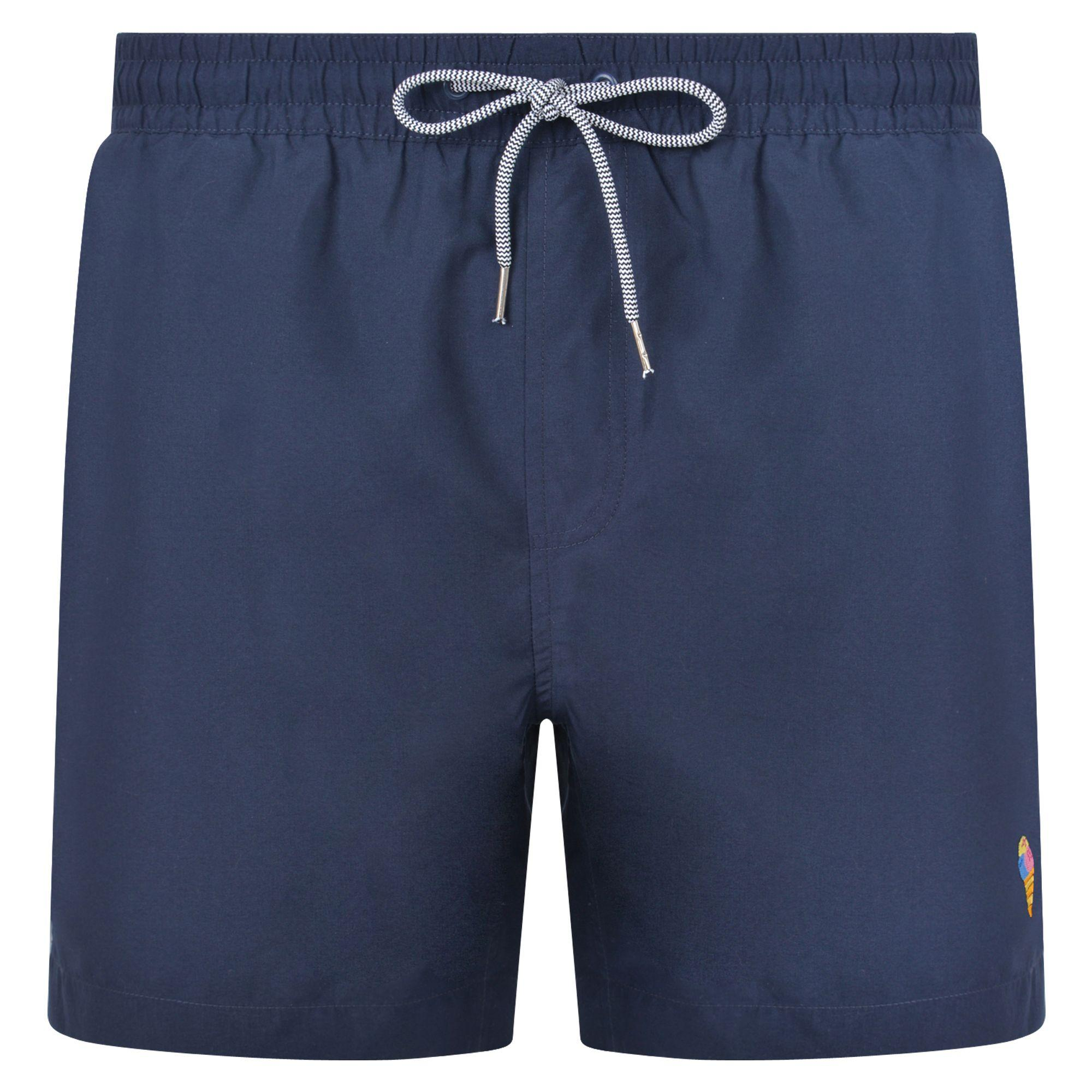 6dd55bc359 Threadbare - Blue 2 Pack Red And Navy 'barwhit' Swim Shorts for Men -. View  fullscreen