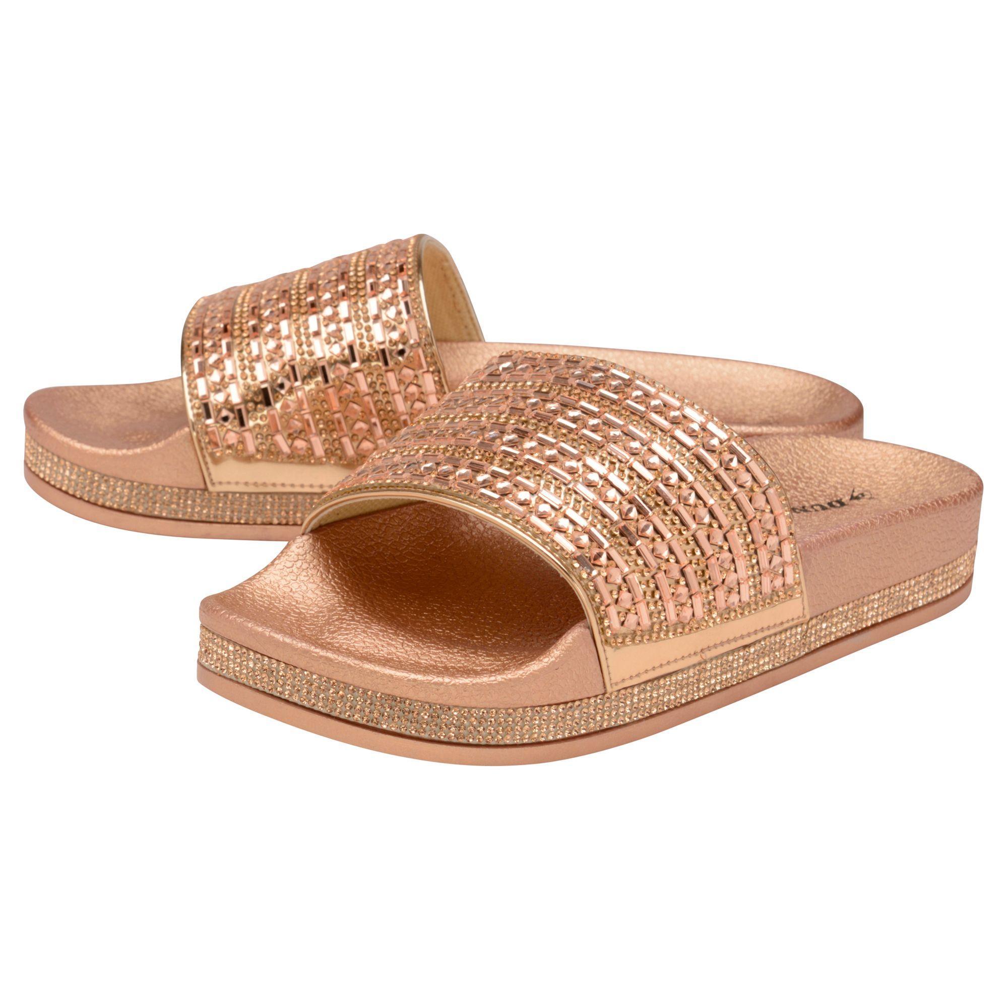 61f5fcf74b7c Dunlop - Pink Rose Gold  emmie  Mule Sandals - Lyst. View fullscreen