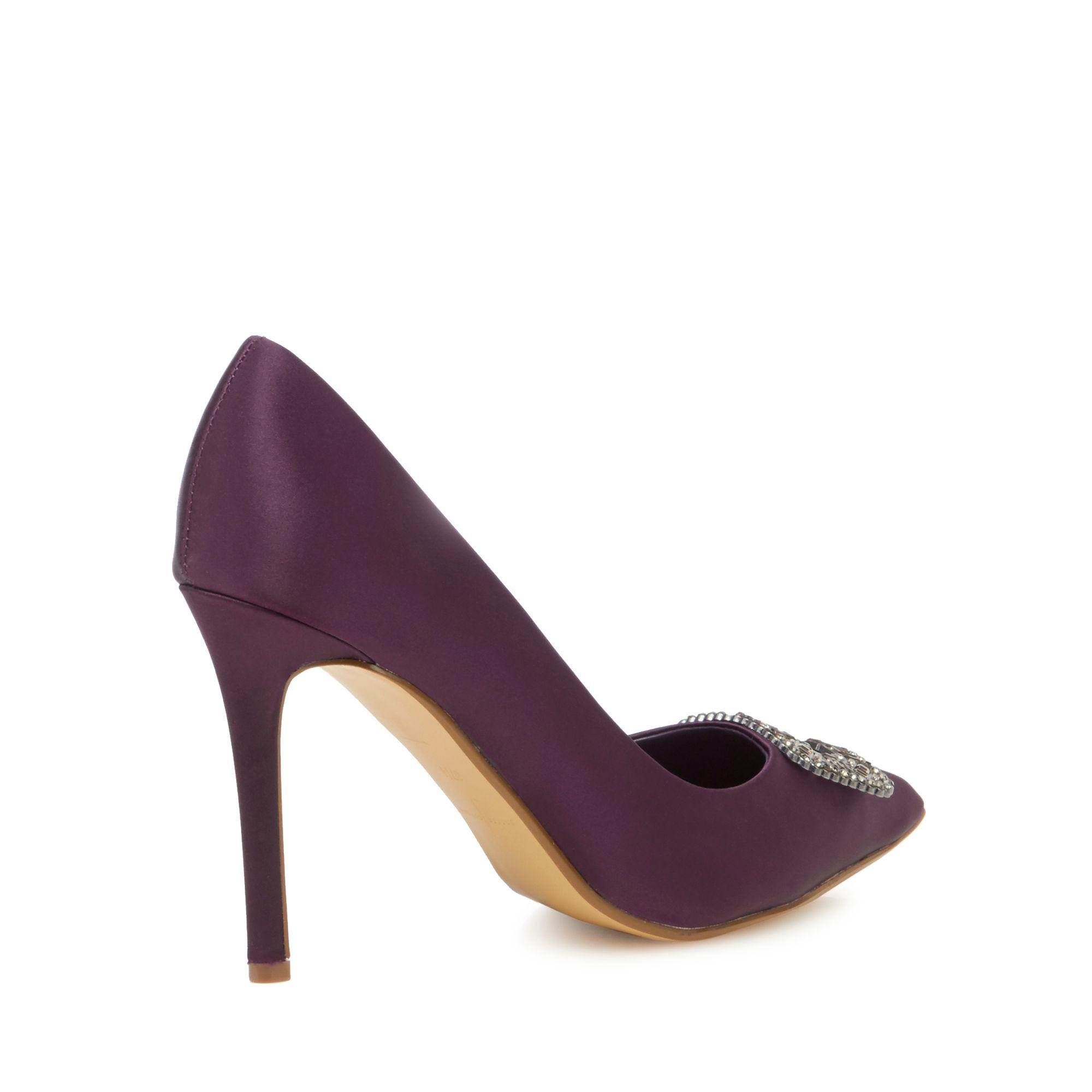 939342f2355 J By Jasper Conran Dark Purple  jessie  High Stiletto Heel Court ...