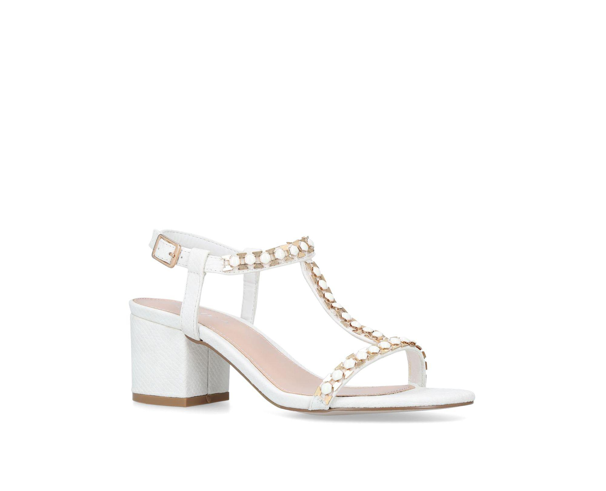 7efd2a71153 Carvela Kurt Geiger White  blazen  Mid Heel Sandals in White - Save ...