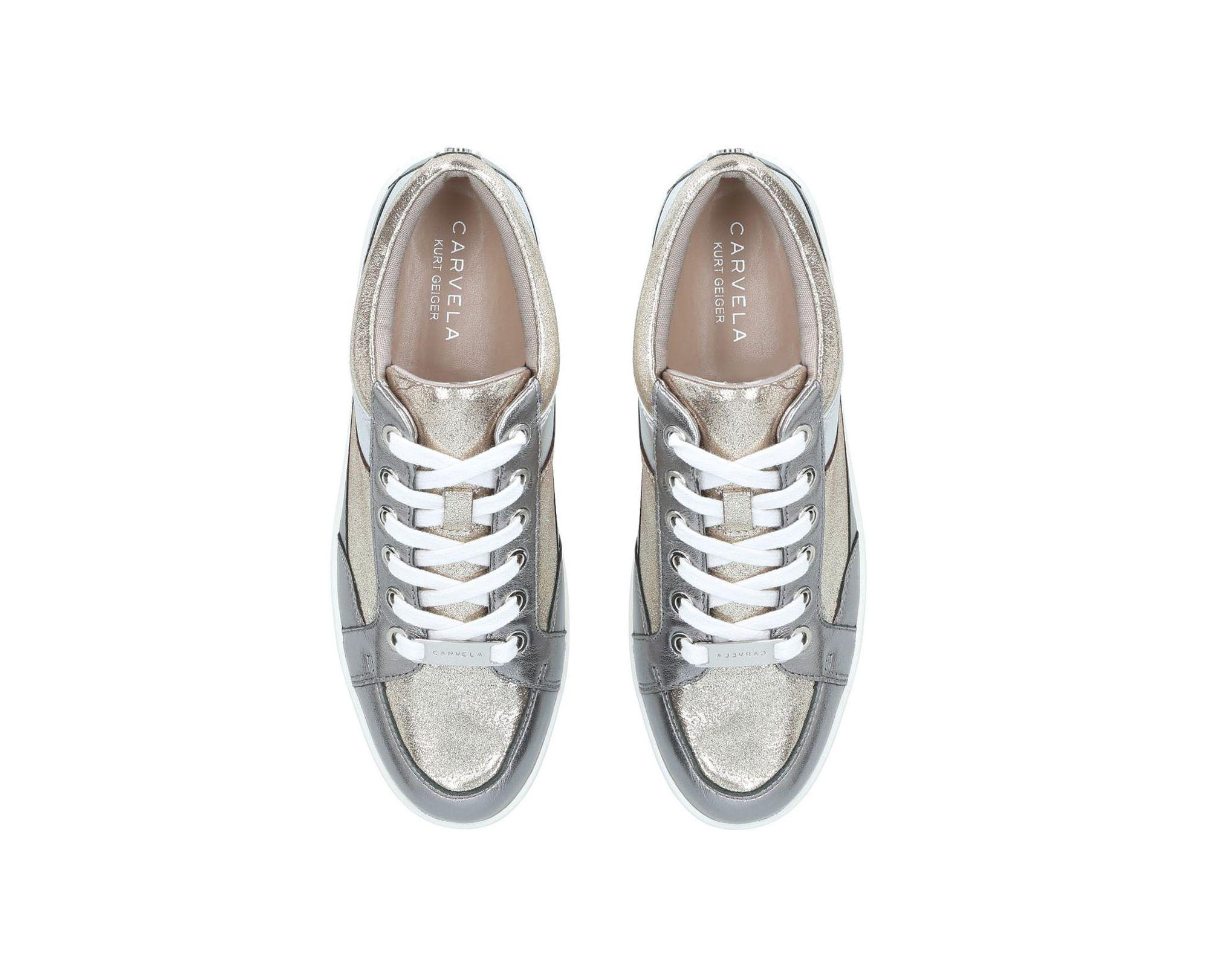 amazing selection 100% quality super cheap Carvela Kurt Geiger Pewter 'legacy' Lace Up Trainers in Grey ...