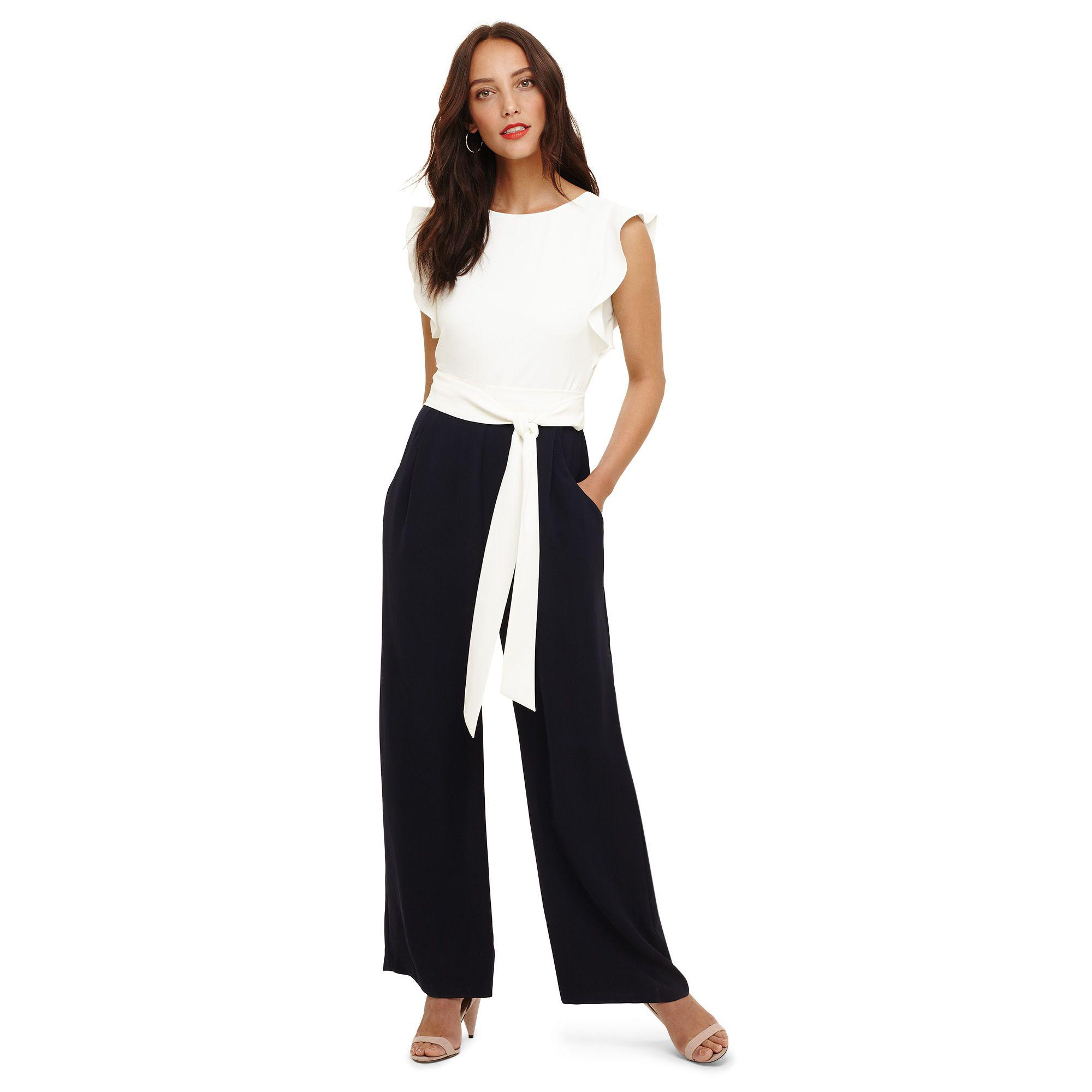 4d9e616f957 Phase Eight Navy And Ivory Victoriana Jumpsuit in Blue - Lyst