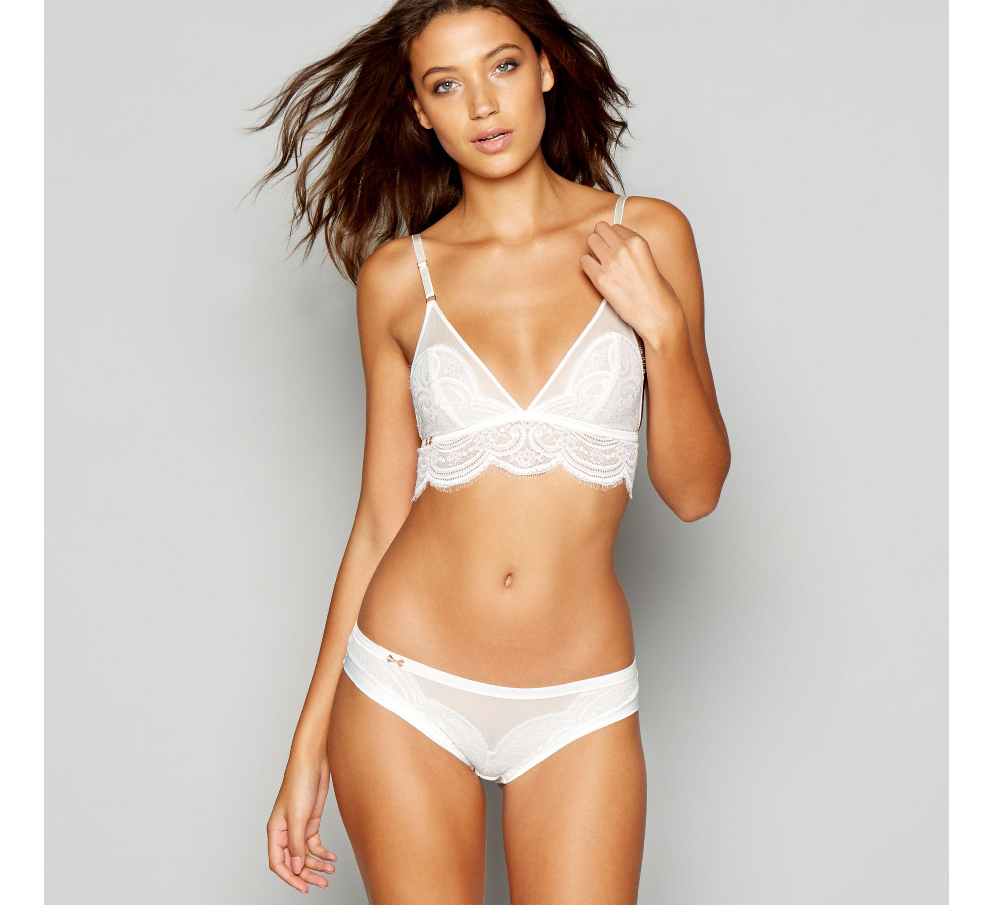 94e3d6ed20b86d Ted Baker White Lace Non-wired Non-padded Bralette in White - Lyst