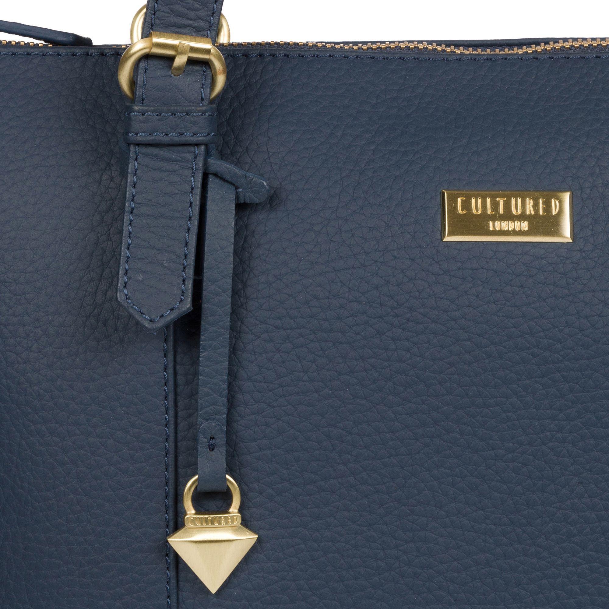 4ba92dfb2ed5 Cultured london denim pippa leather tote bag in blue lyst jpg 2000x2000  Pippa totes