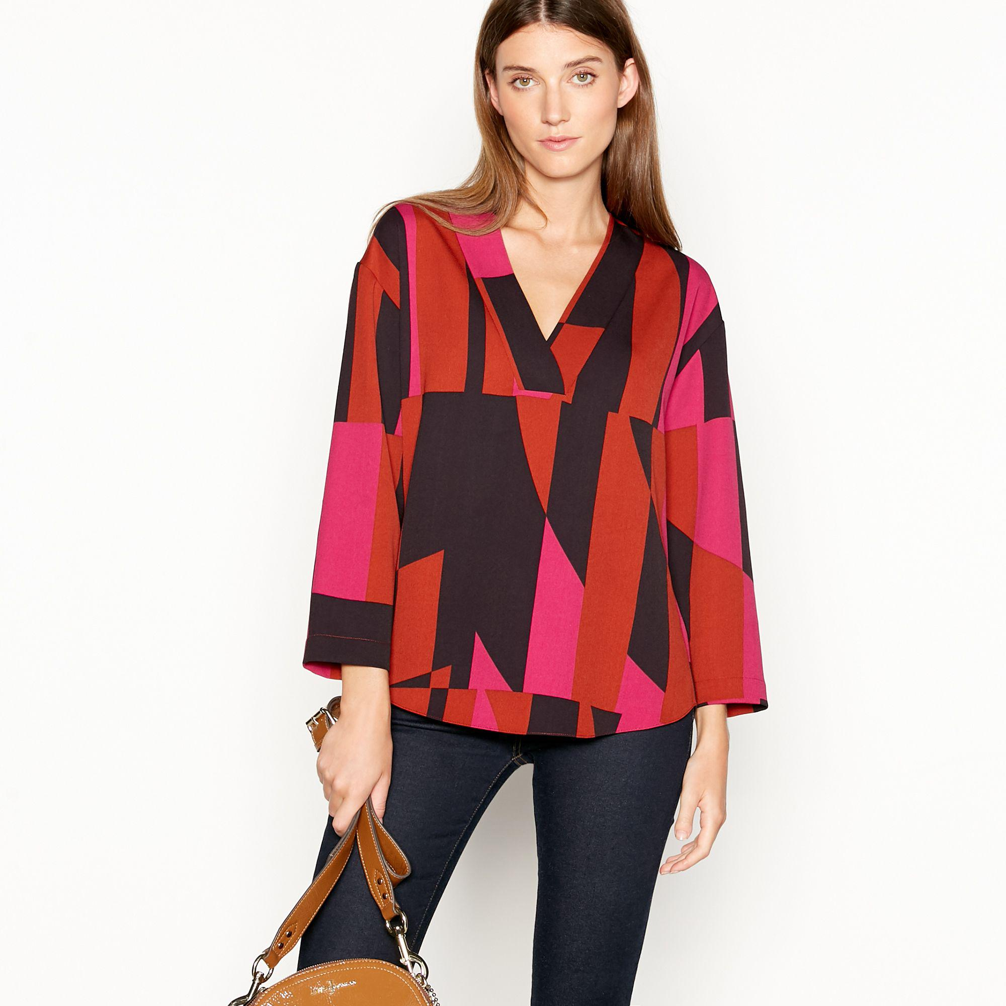f4da21ee880e4f J By Jasper Conran Multicoloured  bullseye  Print Shirt in Red - Lyst