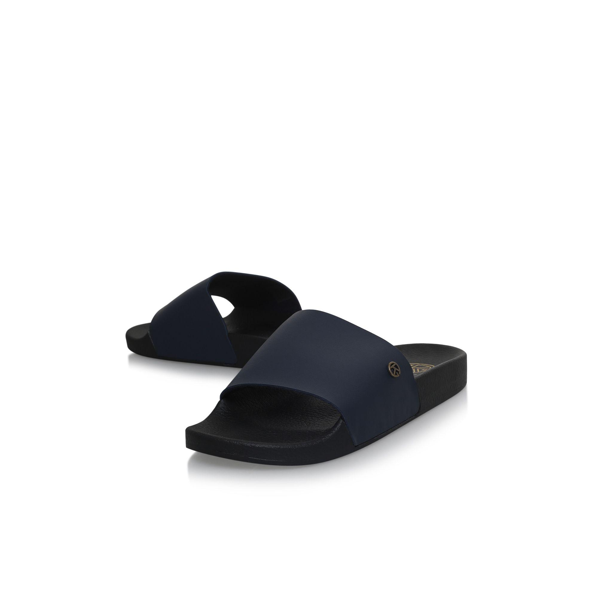 ad2edb309718 KG by Kurt Geiger - Blue Lydd Flat Slip On Sandals for Men - Lyst. View  fullscreen