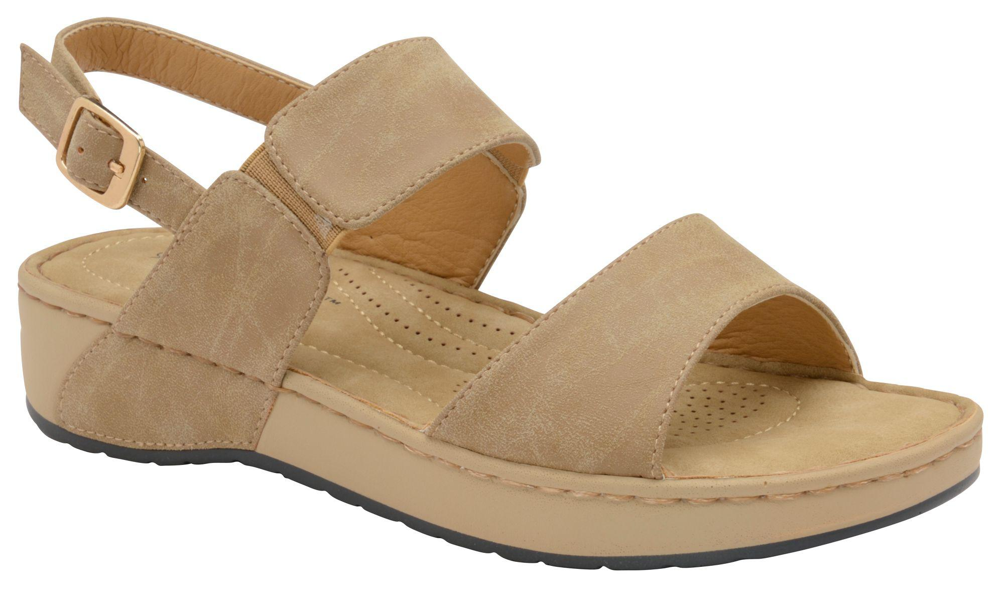 f090d0613088 Dunlop Taupe  mira  Ladies Open Toe Sandals in Brown - Lyst