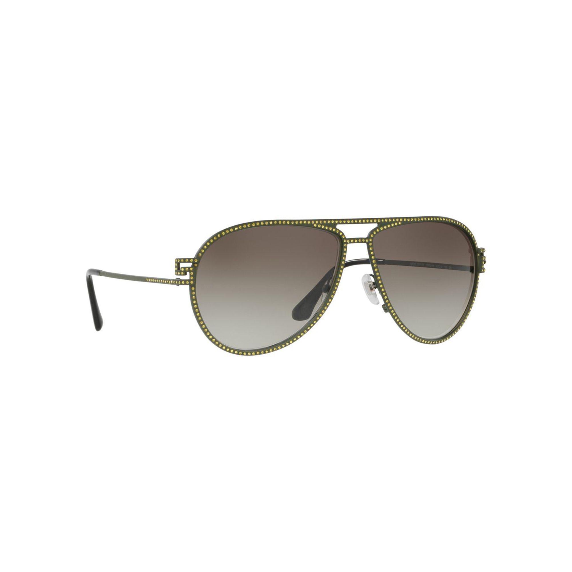 9444d44a5a32 Sunglasses Green Matte Pilot In Lyst Ve2171b Versace wIBxdpI