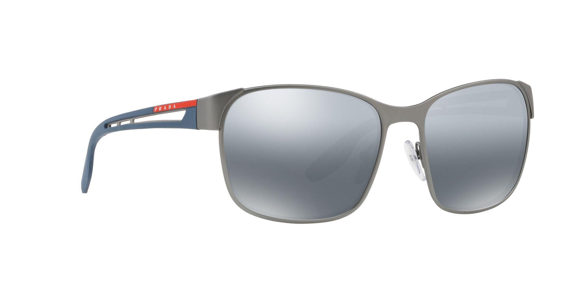a8dca79be8 Prada - Gray Gunmetal Ps 52ts Pillow Sunglasses for Men - Lyst. View  fullscreen