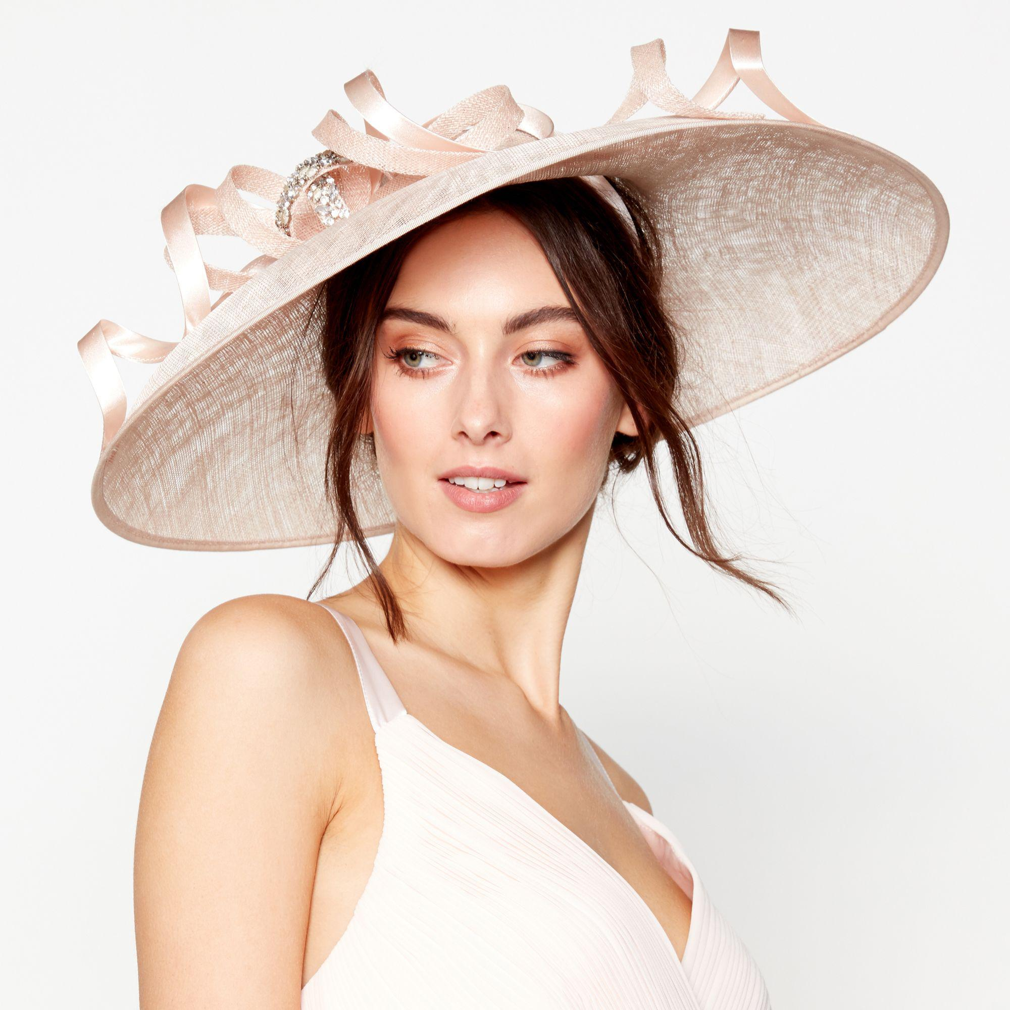 Jenny Packham. Women s Light Pink Embellished Loop Downbrim Fascinator aa5135e933c