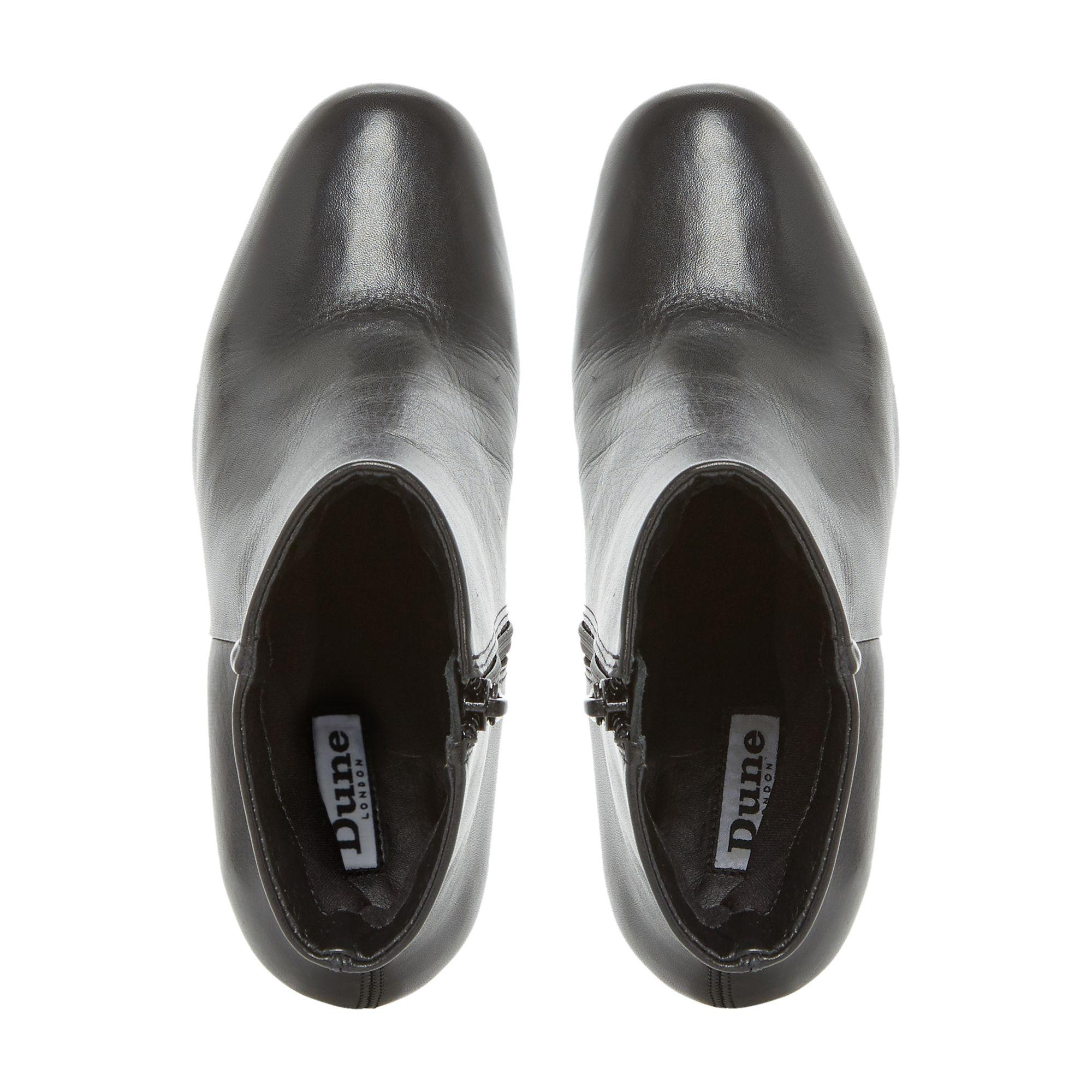 98fca6497d1 Dune Black  osmond  Flared Heel Ankle Boot in Black - Lyst