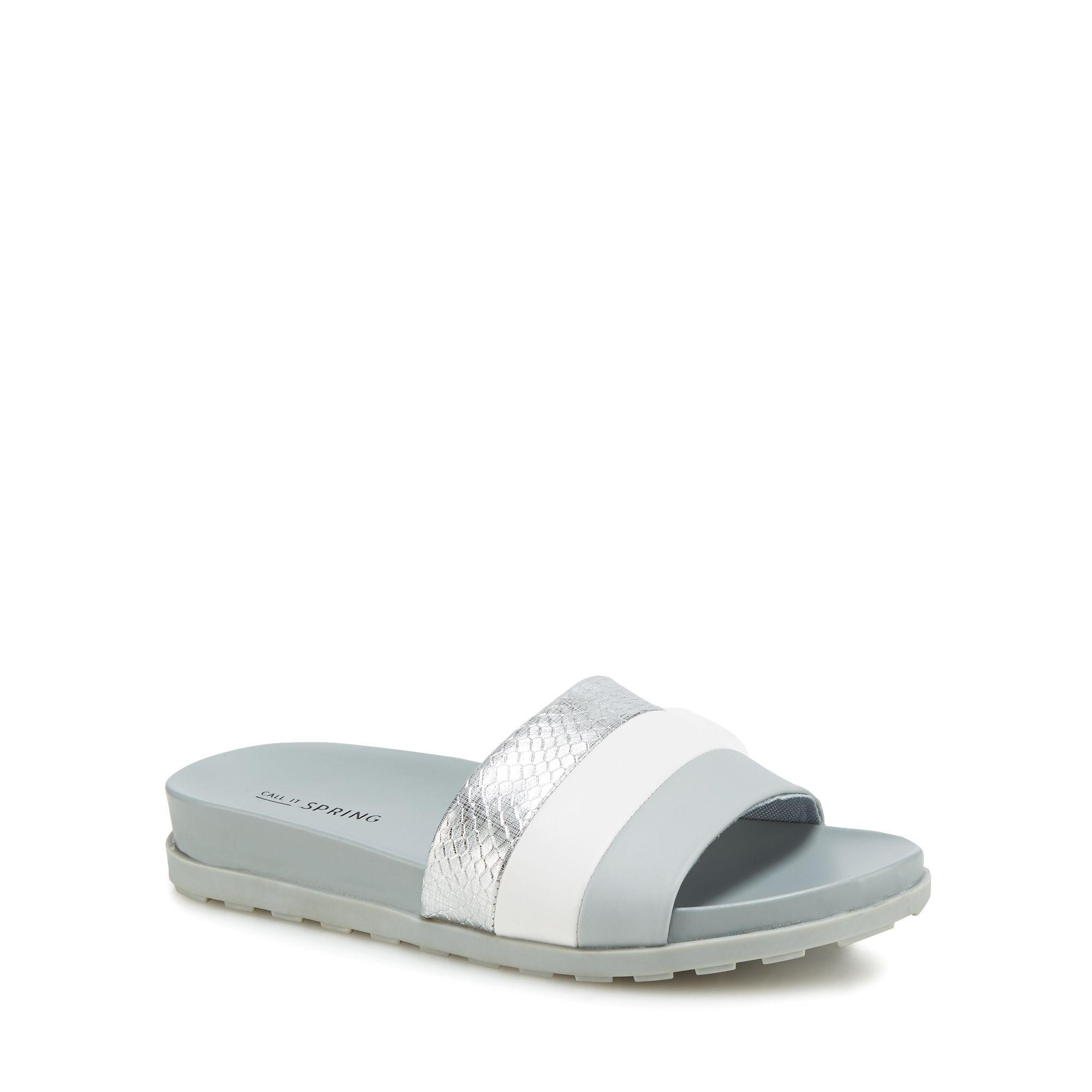 Grey 'Kedoedien' sliders free shipping 100% guaranteed cheap sale amazon extremely cheap price u3YPXmTg5