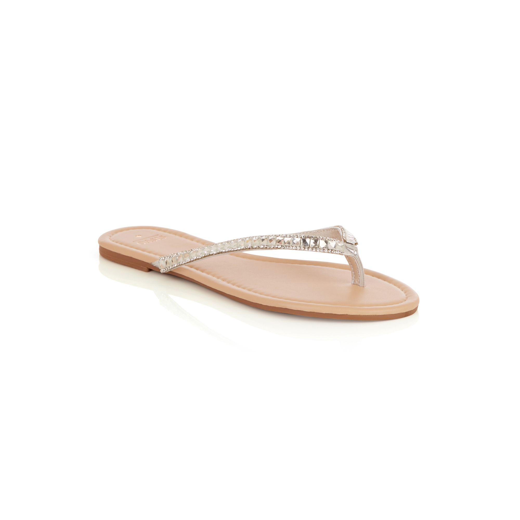 d9172ccd6c6480 Oasis Silver  suzy  Sparkle Toe Posts in Metallic - Lyst