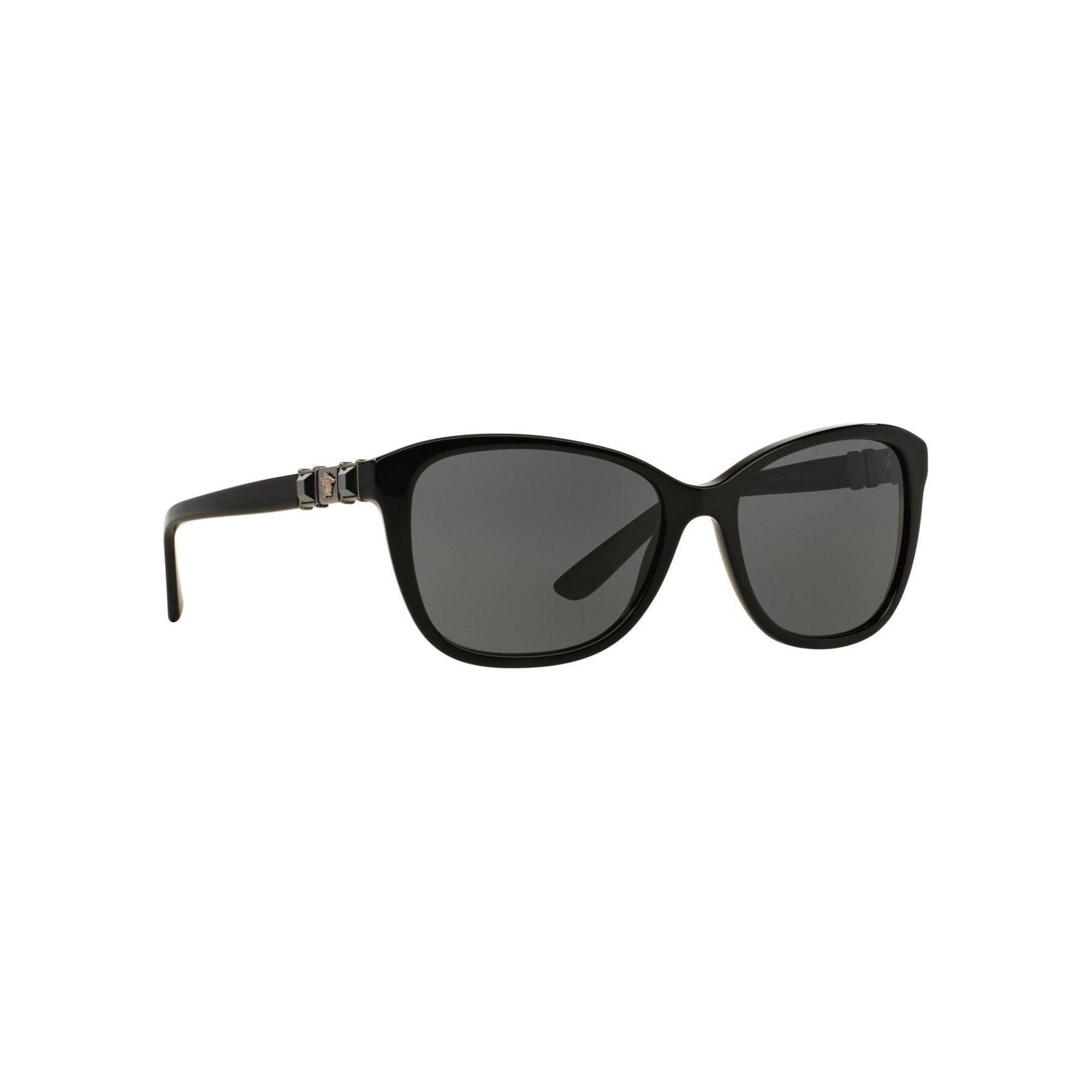 4a110ed1af00 Versace Black Ve4293b Cat Eye Sunglasses in Black - Lyst