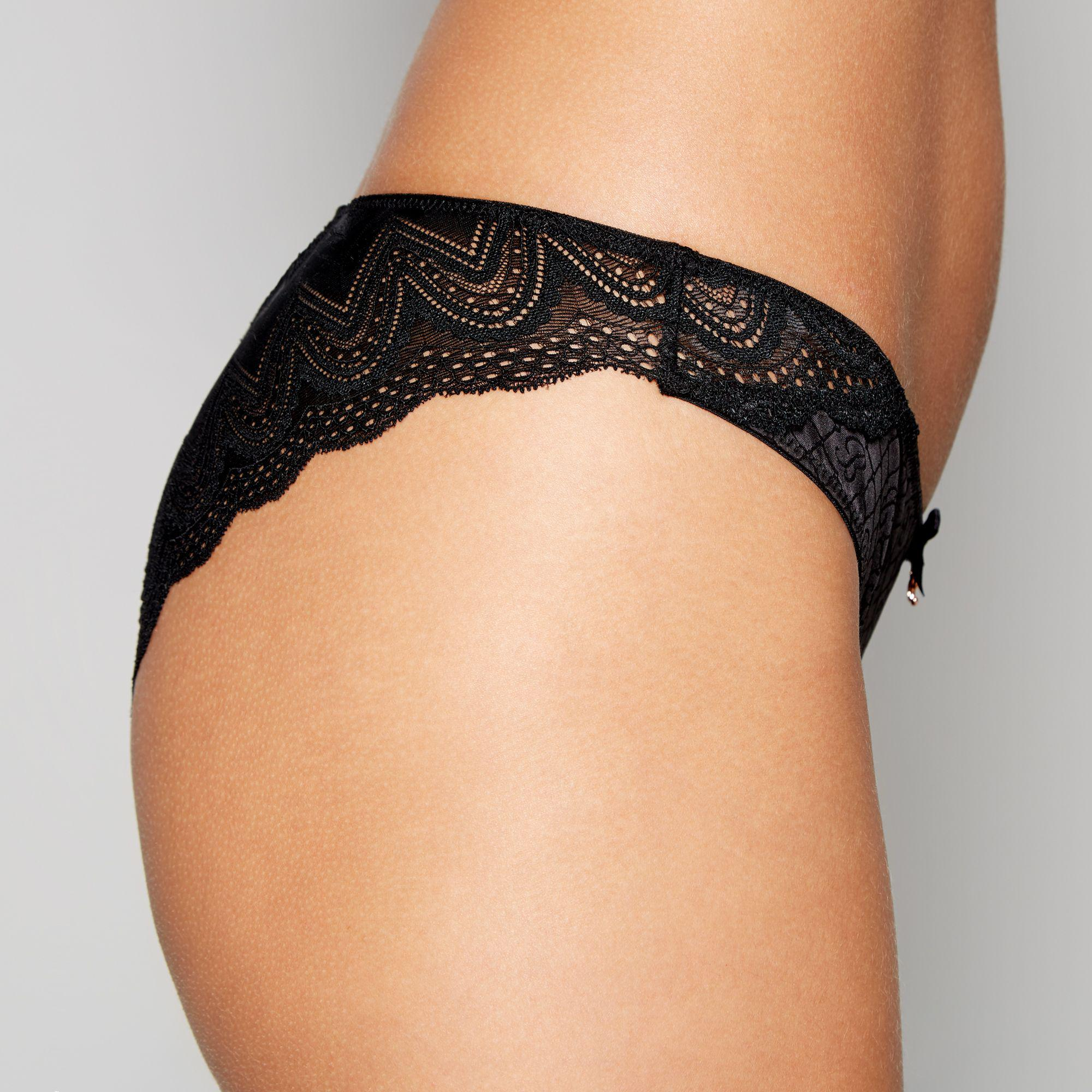 3cd7ea3b076a ... Ted Baker - Black Jacquard Satin Lace Brazilian Knickers - Lyst. Visit  Debenhams. Tap to visit site